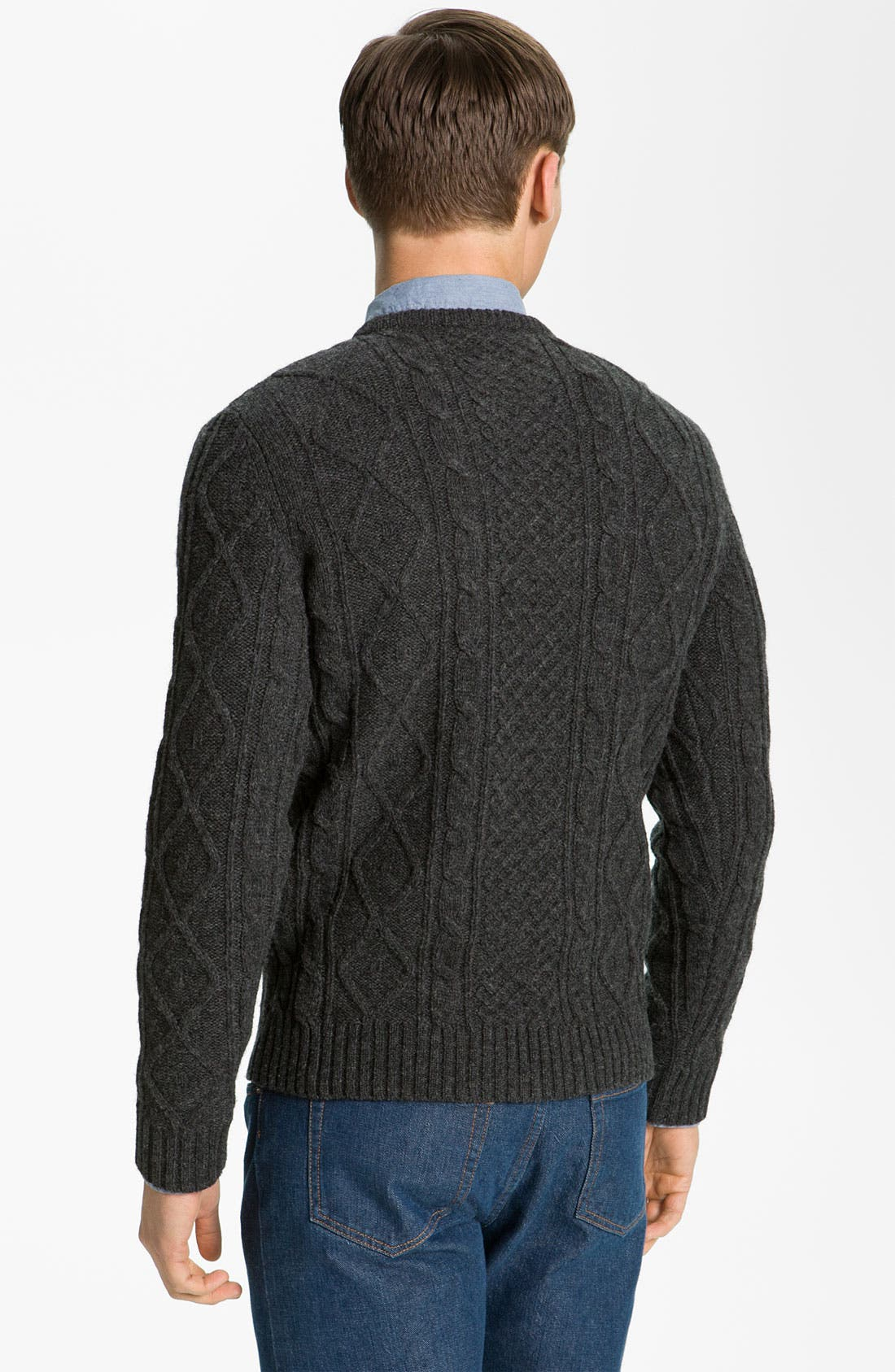 Alternate Image 2  - A.P.C. 'Fisherman's' Lambswool Sweater