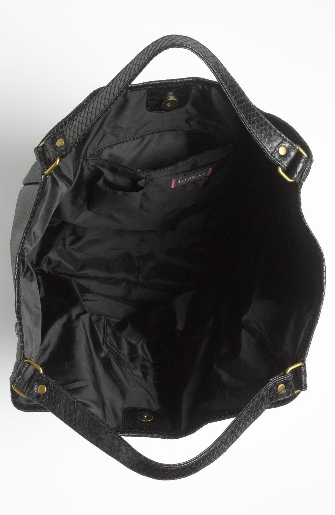 Alternate Image 3  - Lulu Snake Embossed Tote Bag