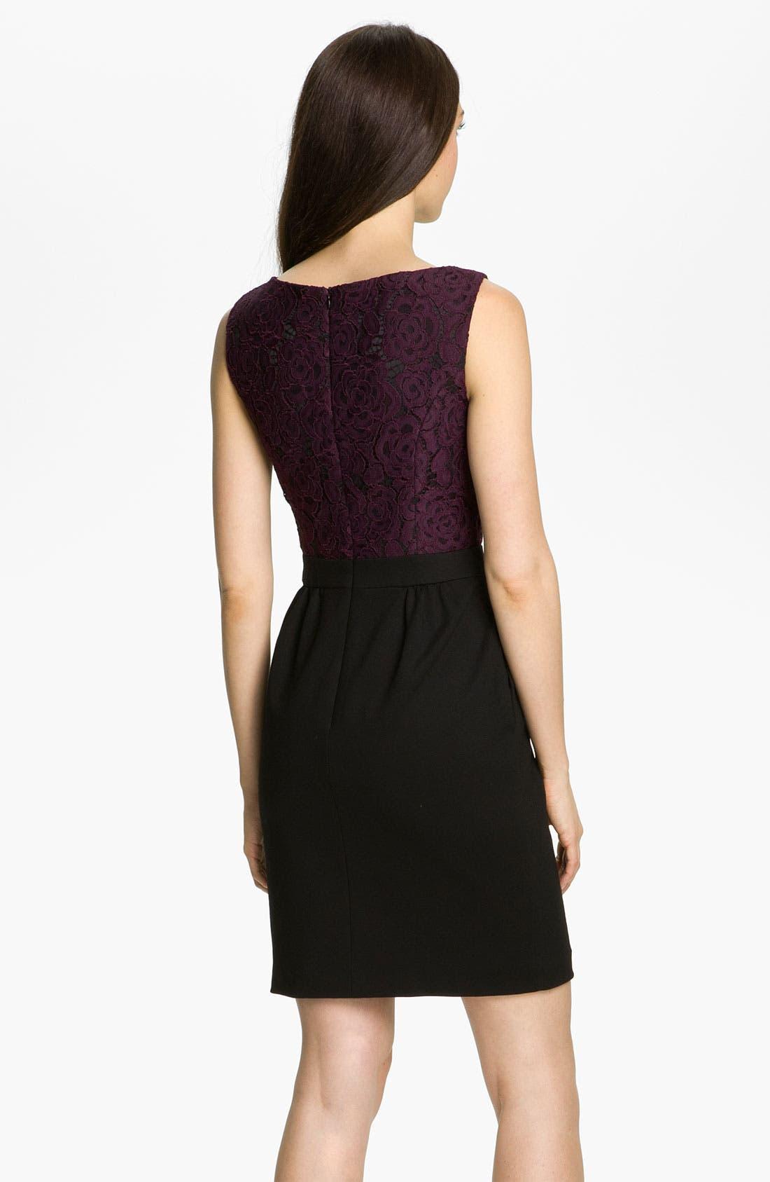 Alternate Image 2  - Trina Turk 'Fable' Lace & Ponte Sheath Dress