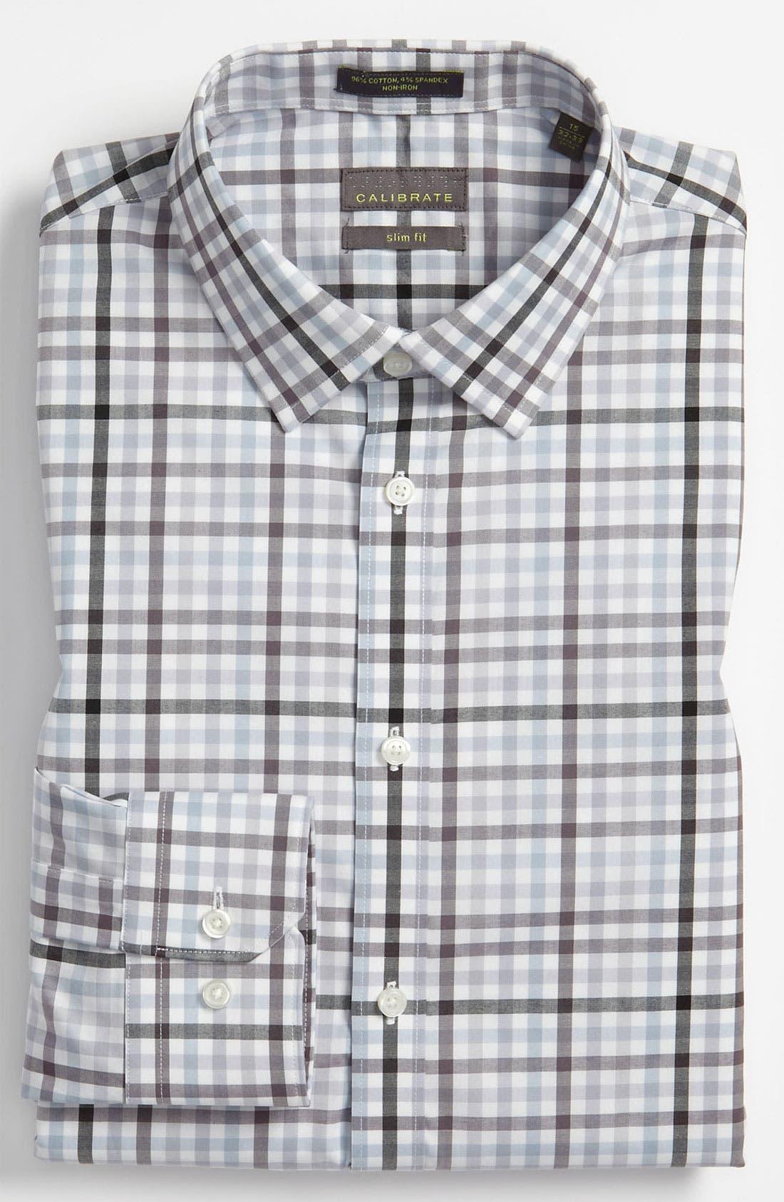 Alternate Image 1 Selected - Calibrate Slim Fit Non Iron Dress Shirt