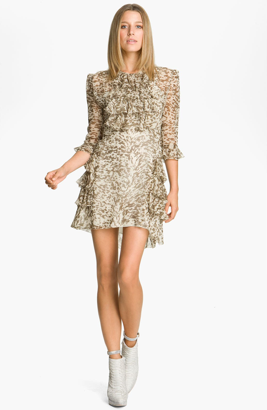 Alternate Image 1 Selected - Skaist-Taylor Ruffled Chiffon Dress