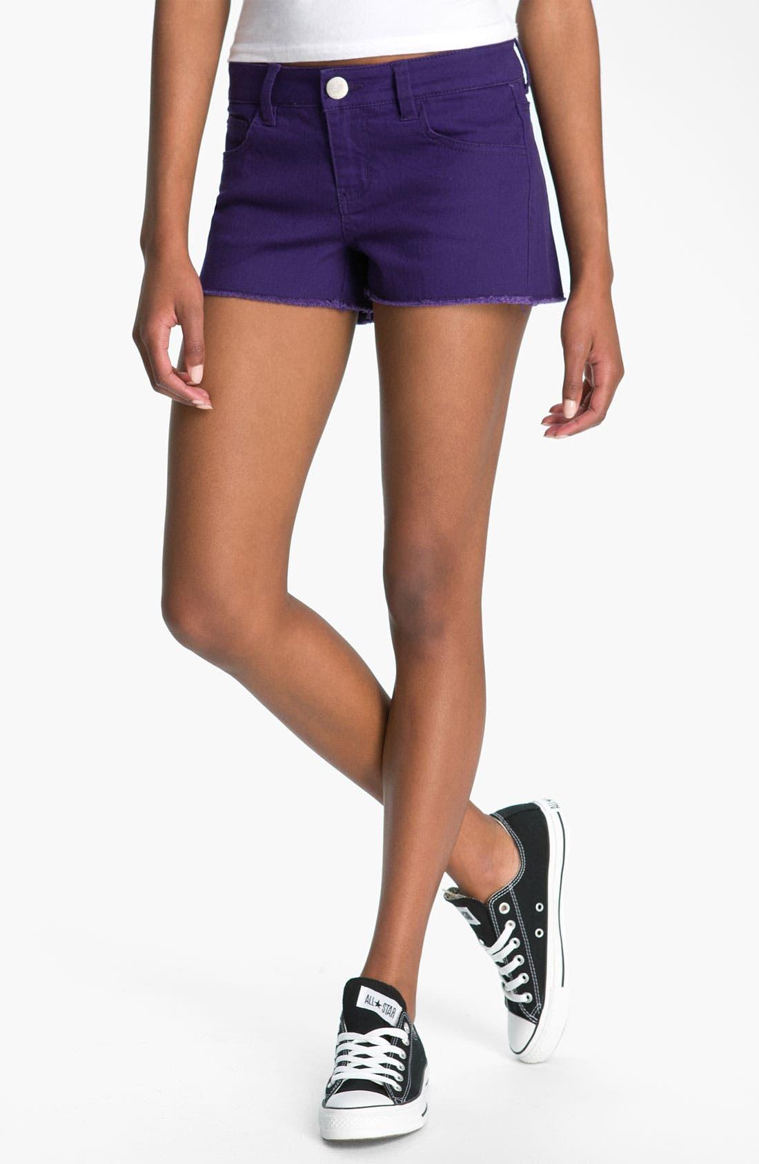 Alternate Image 2  - Fire Cutoff Denim Shorts (Juniors)