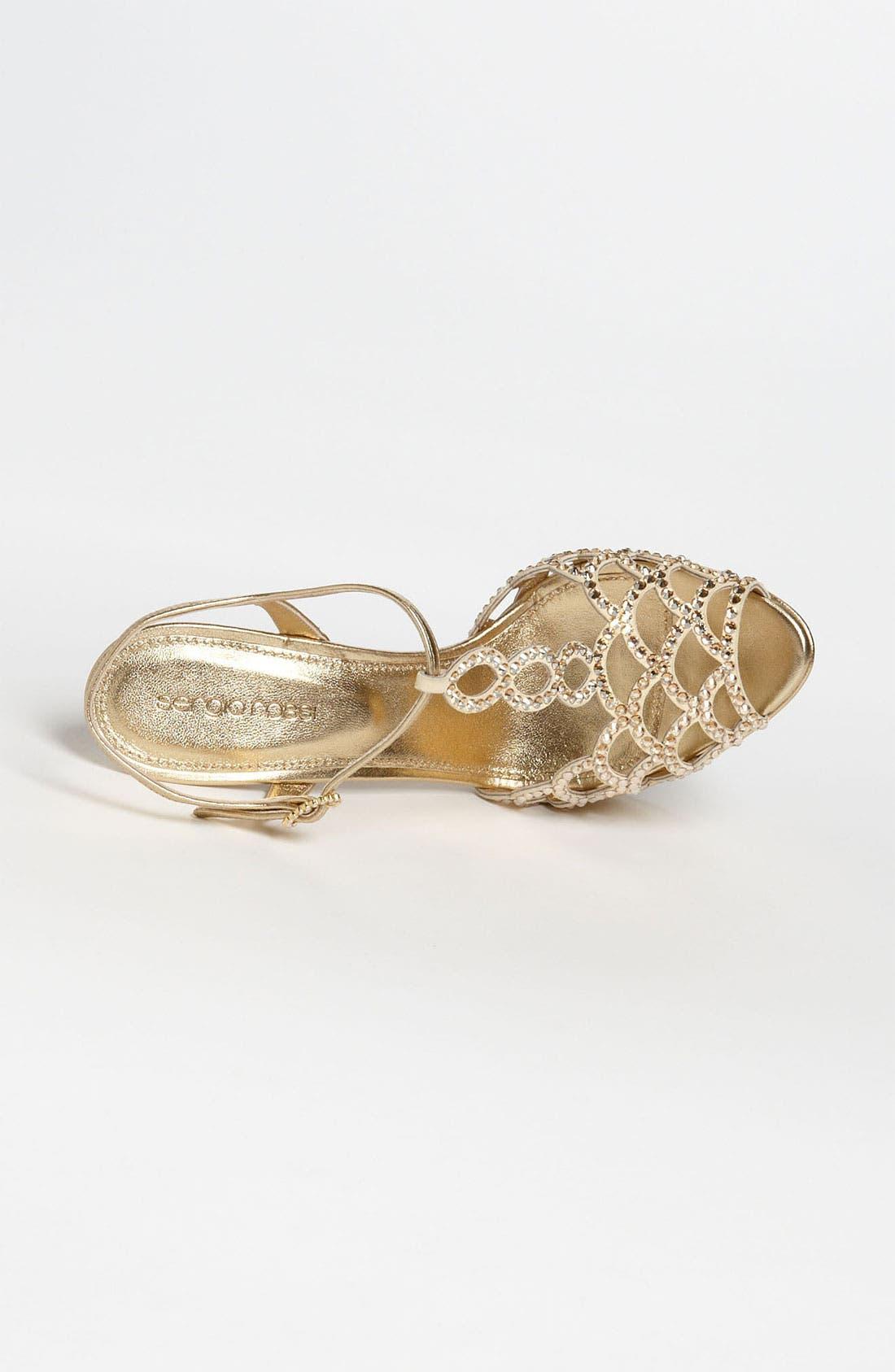 Alternate Image 3  - Sergio Rossi Crystal Platform Sandal