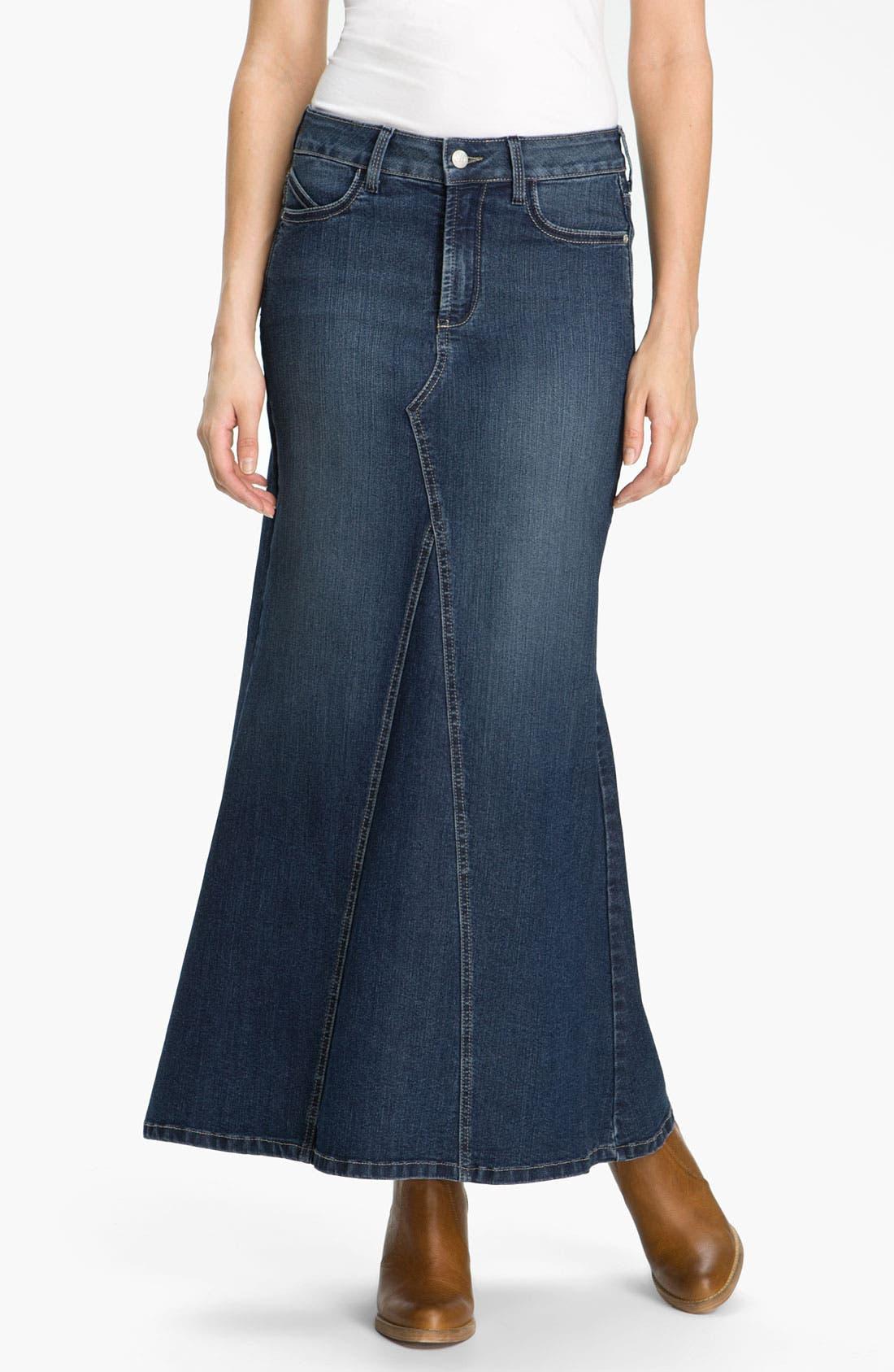Alternate Image 1 Selected - NYDJ 'Brooke' Denim Maxi Skirt