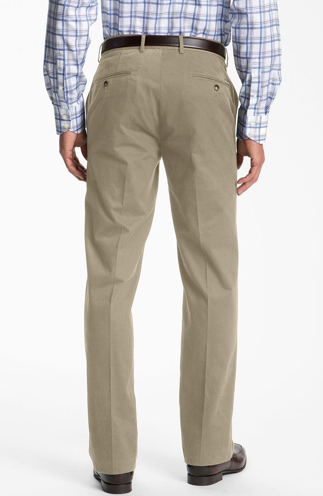 Alternate Image 2  - Façonnable 'Savon' Flat Front Cotton Trousers