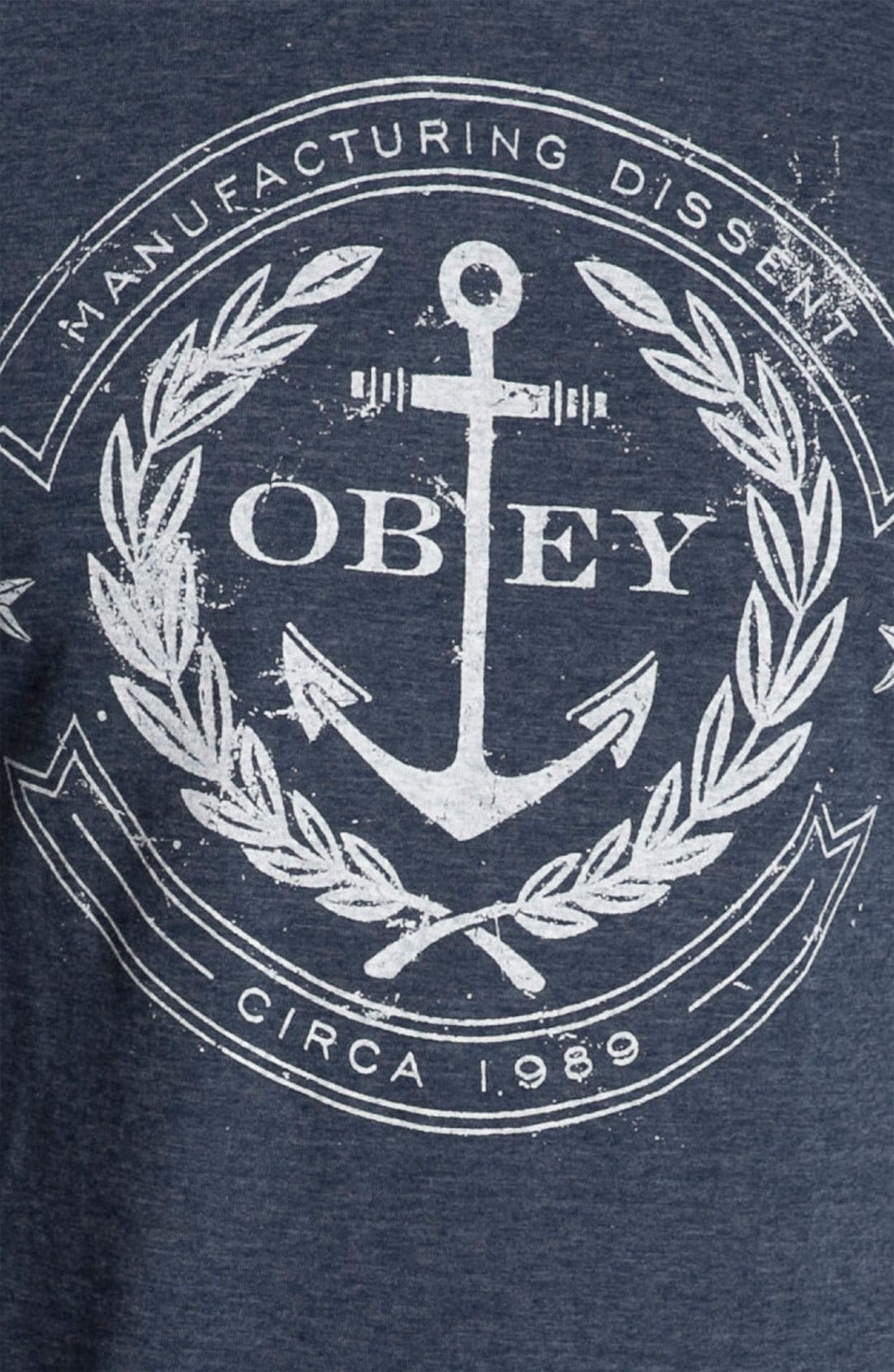 Alternate Image 3  - Obey 'Dissent Anchor' T-Shirt