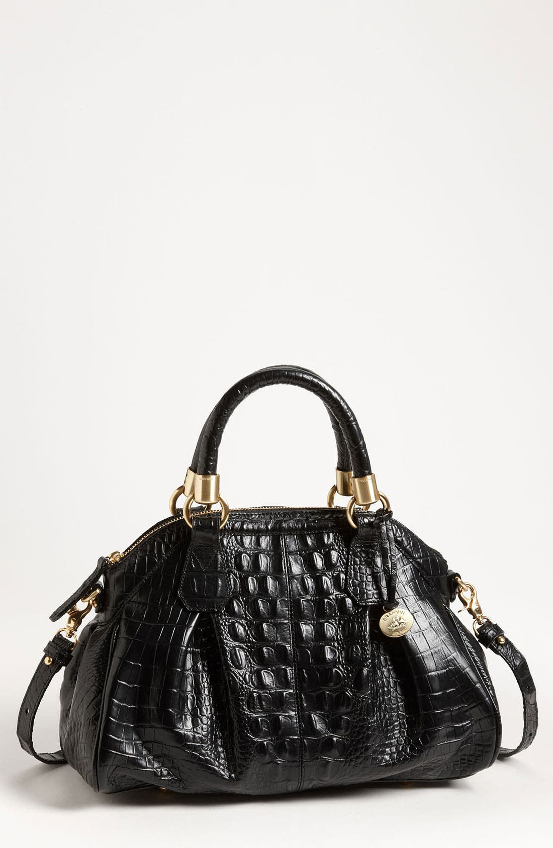Main Image - Brahmin  'Lisa - Melbourne' Croc Embossed Satchel
