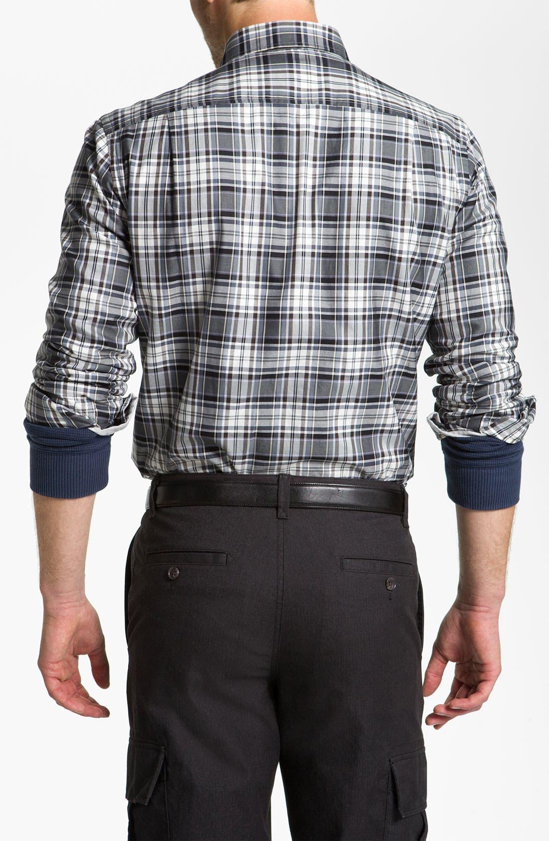 Alternate Image 2  - Hickey Freeman Plaid Sport Shirt