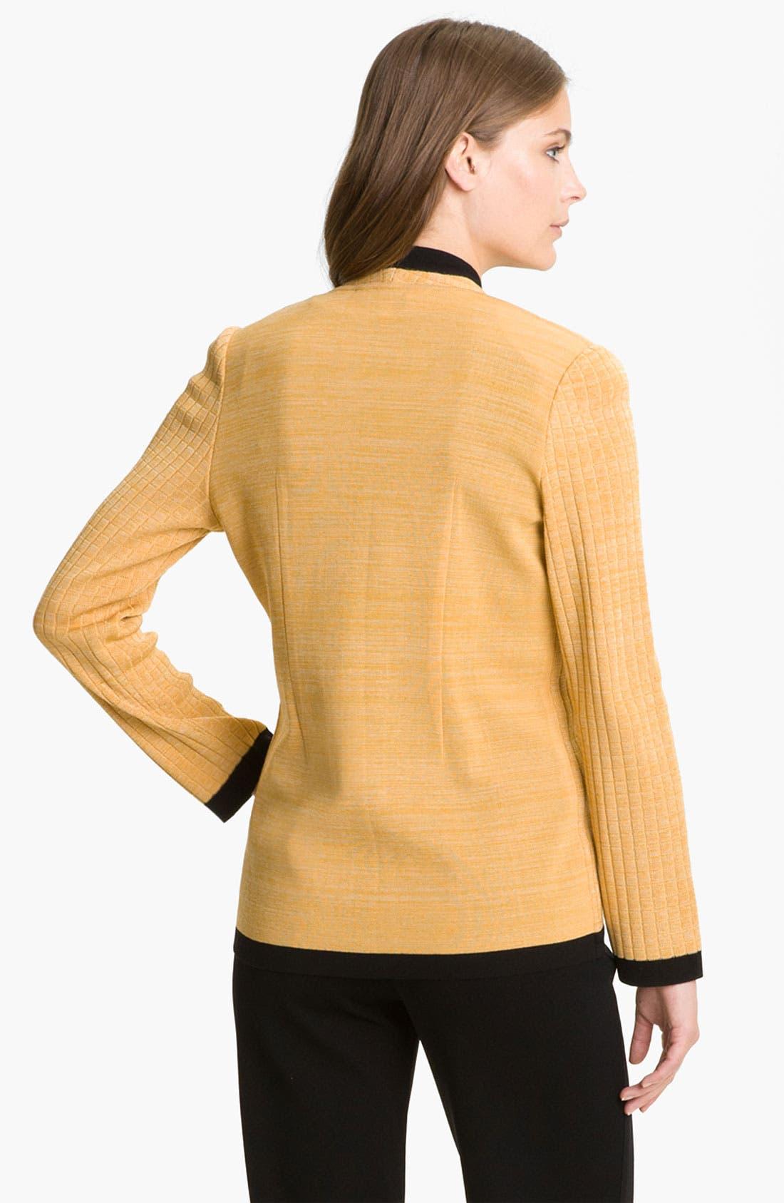Alternate Image 2  - Exclusively Misook Asymmetrical Zip Sweater Jacket