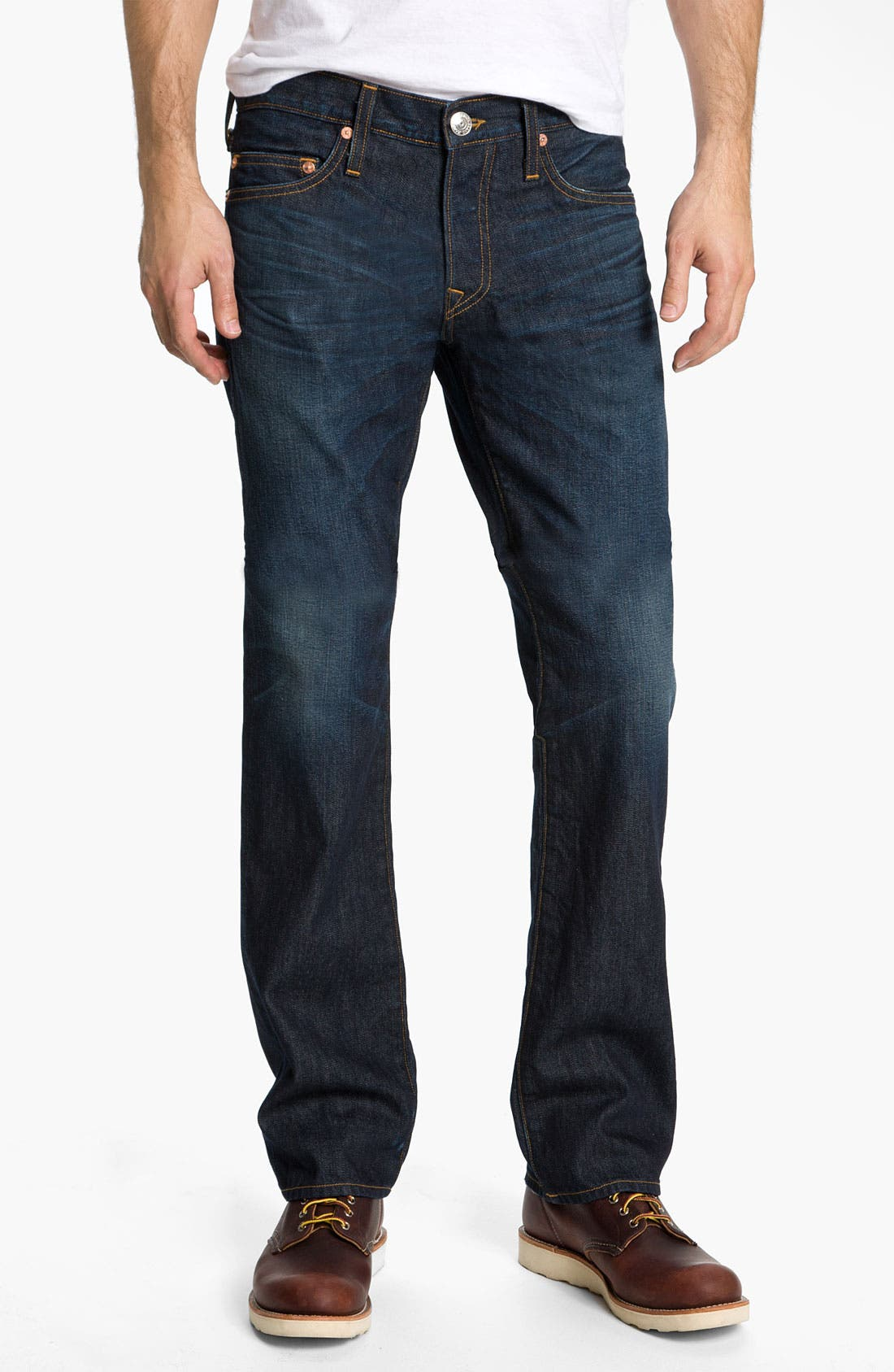 Alternate Image 2  - True Religion Brand Jeans 'Bobby 1971' Straight Leg Jeans (Ransom)