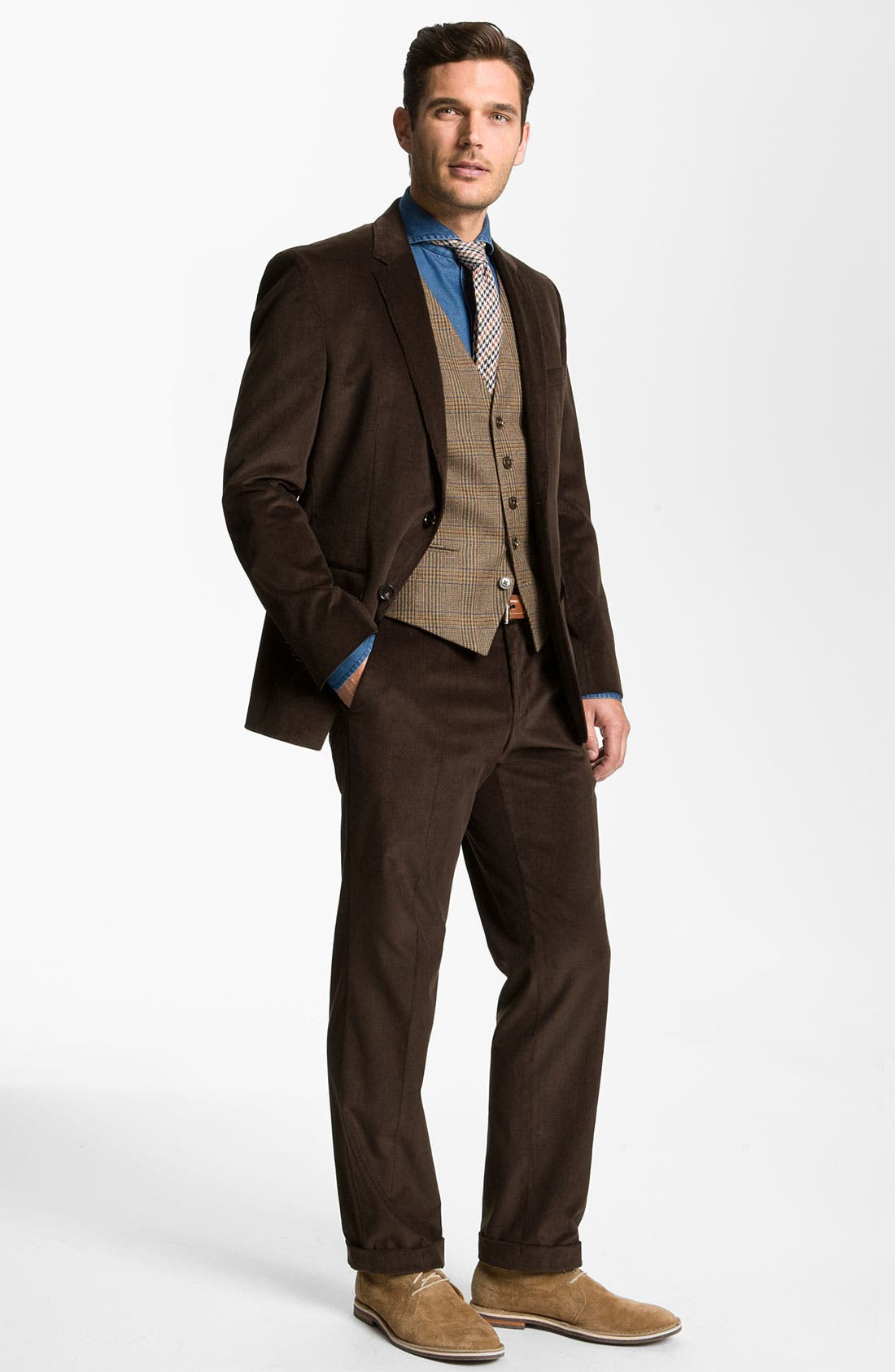 Alternate Image 2  - BOSS Black 'James/Sharp' Trim Fit Corduroy Suit