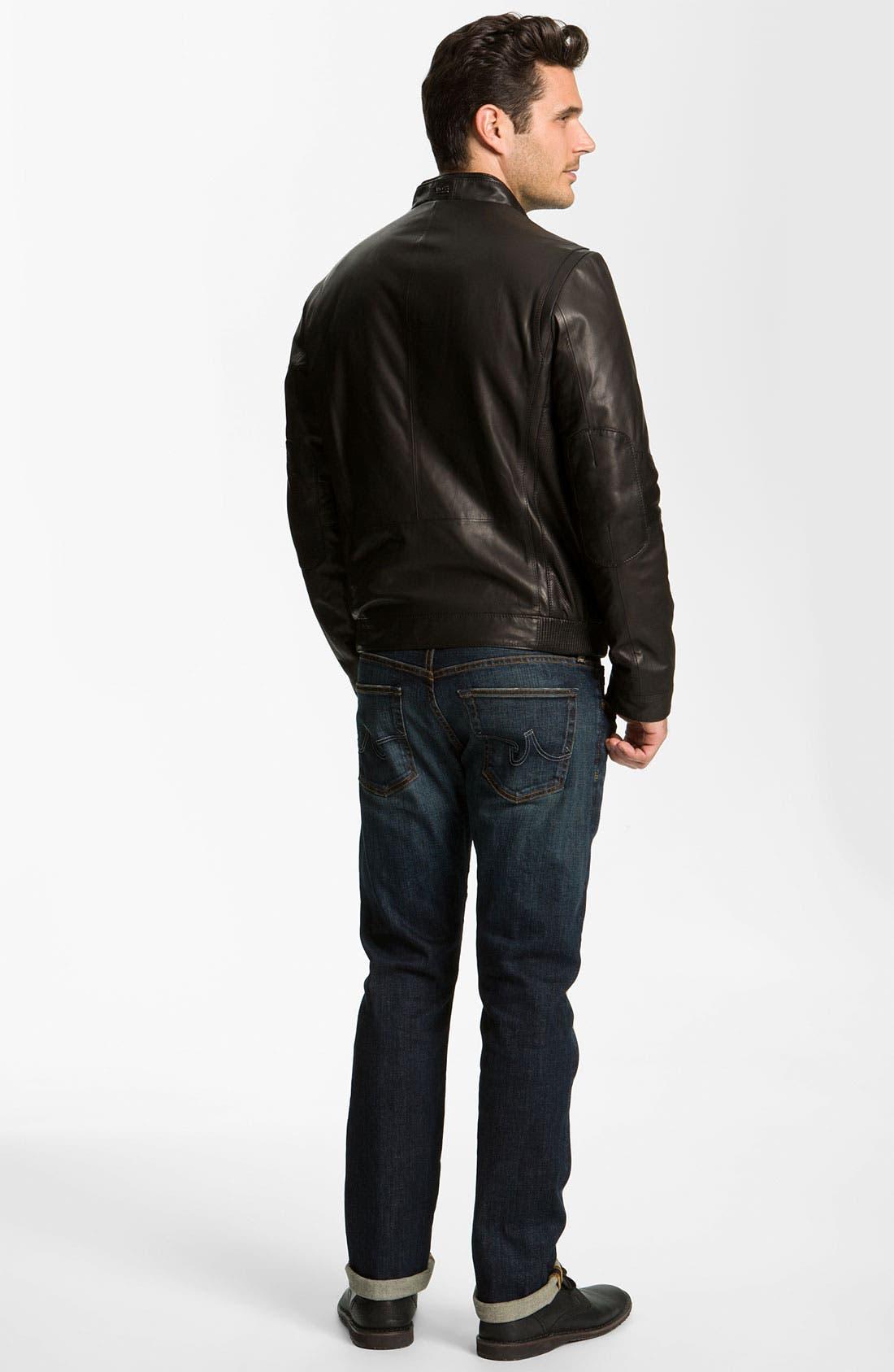 Alternate Image 5  - BOSS Black 'Nekun' Leather Jacket