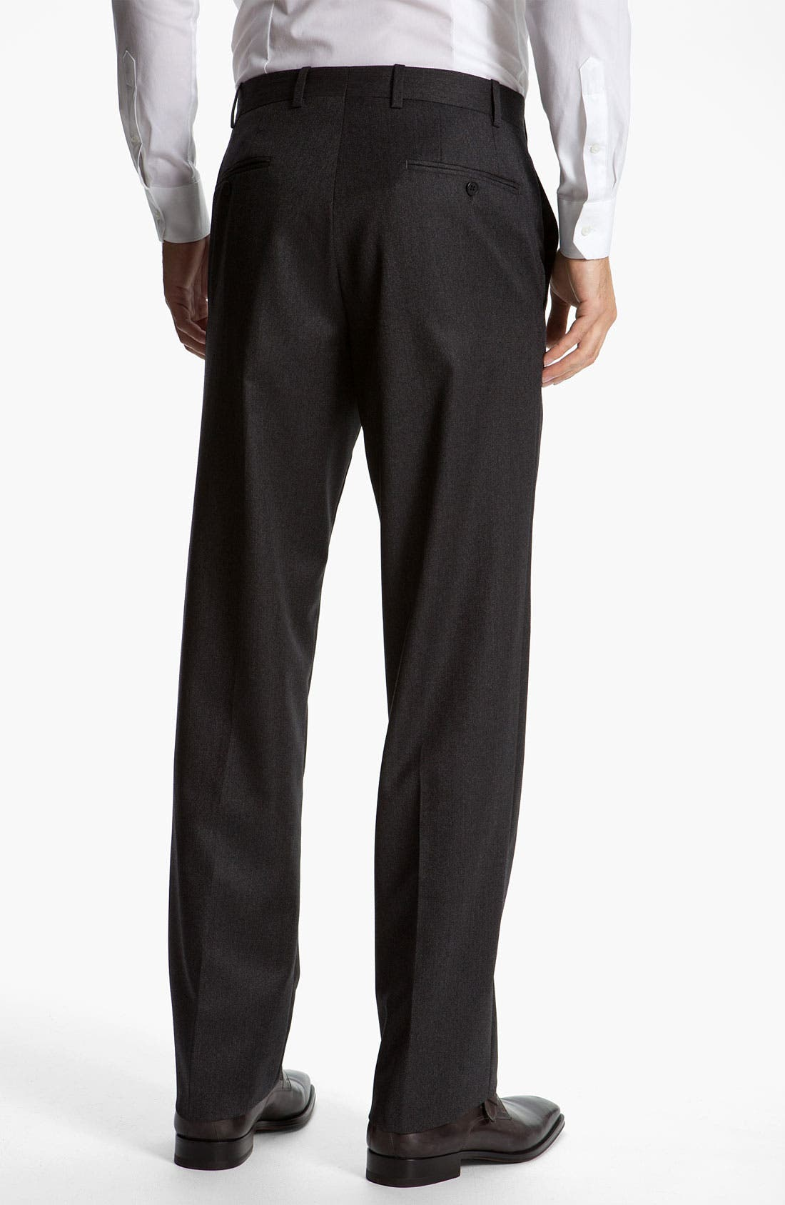 Alternate Image 2  - JB Britches Flat Front Twill Trousers