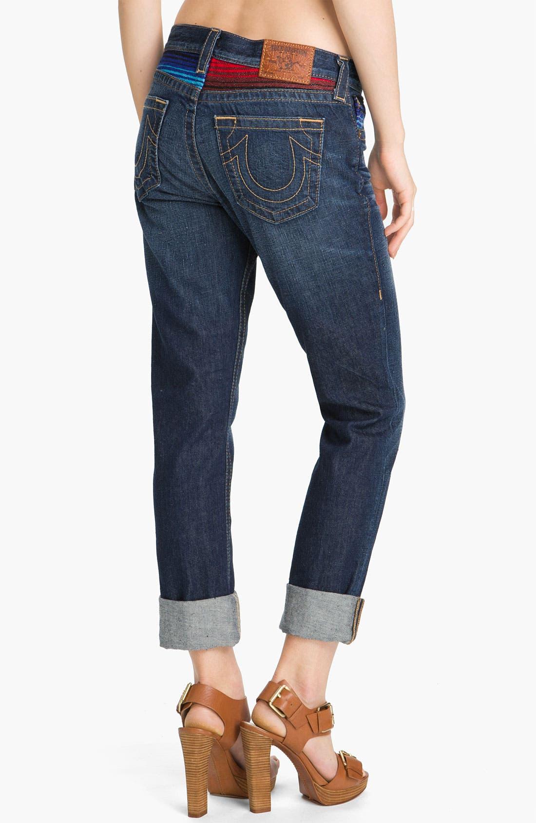 Alternate Image 2  - True Religion Brand Jeans 'Brianna' Boyfriend Jeans (Grid Iron)