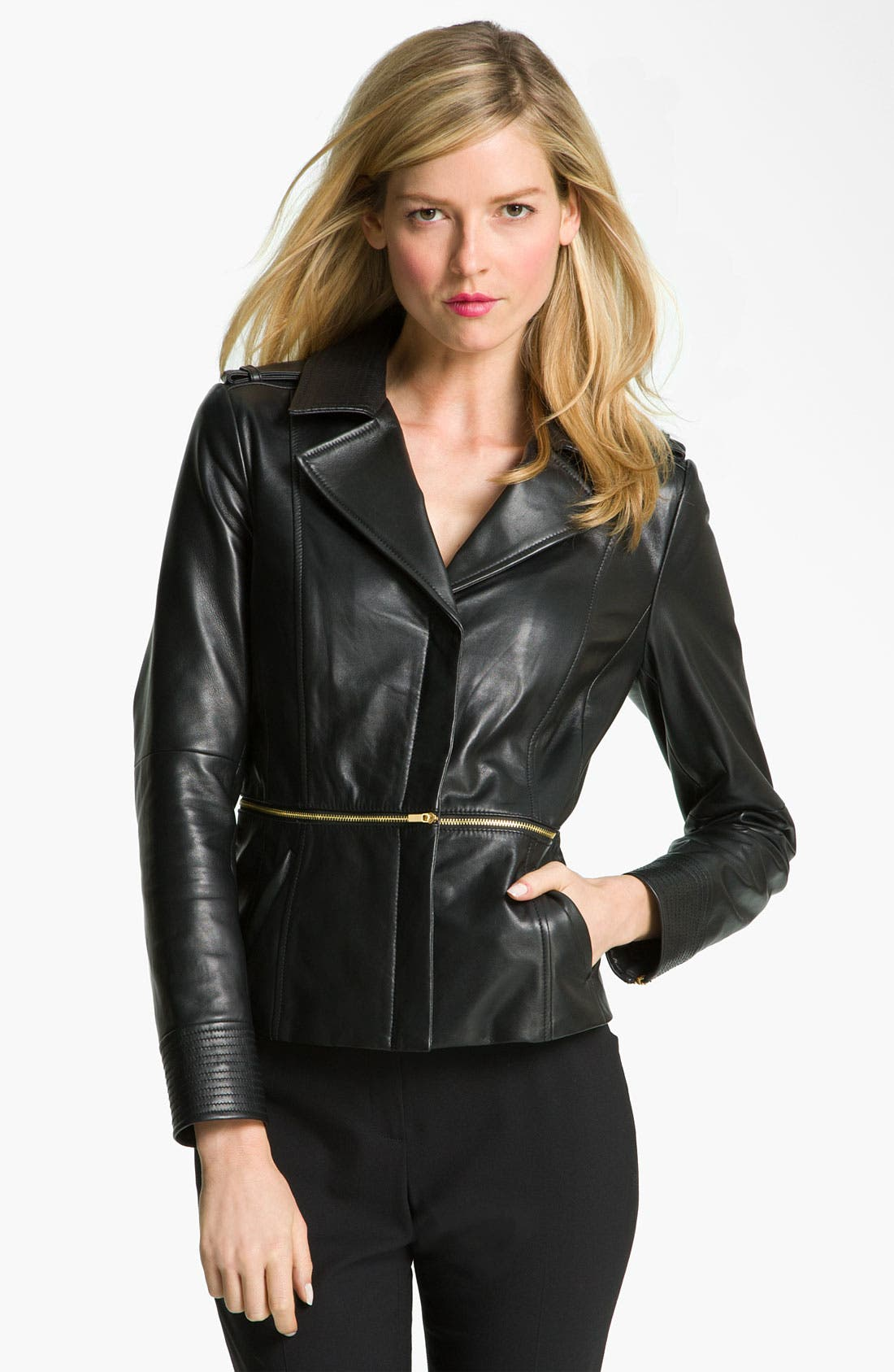 Alternate Image 1 Selected - Classiques Entier® 'Brenna' Leather Jacket