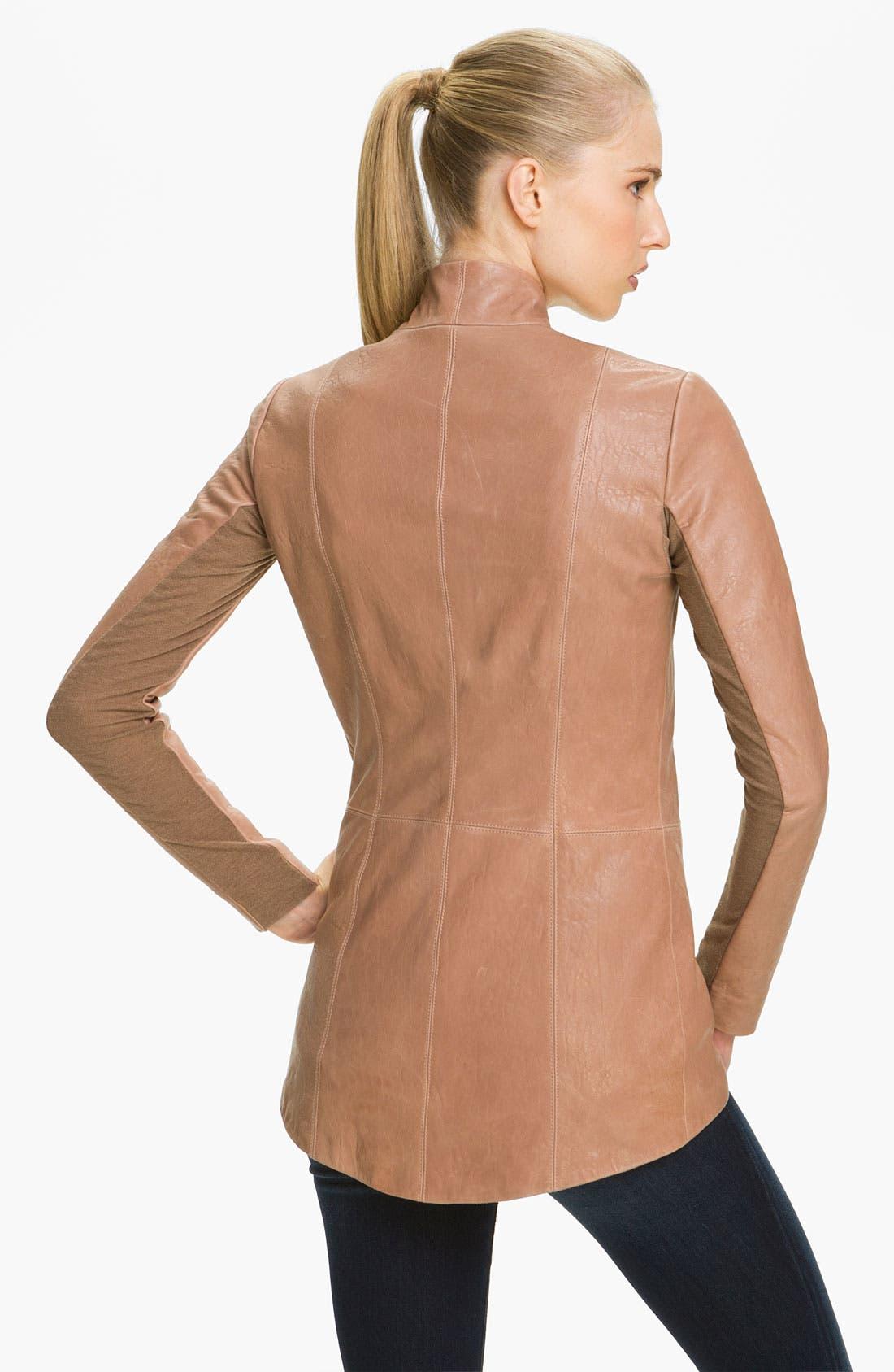 Alternate Image 2  - Veda Shawl Collar Leather Jacket