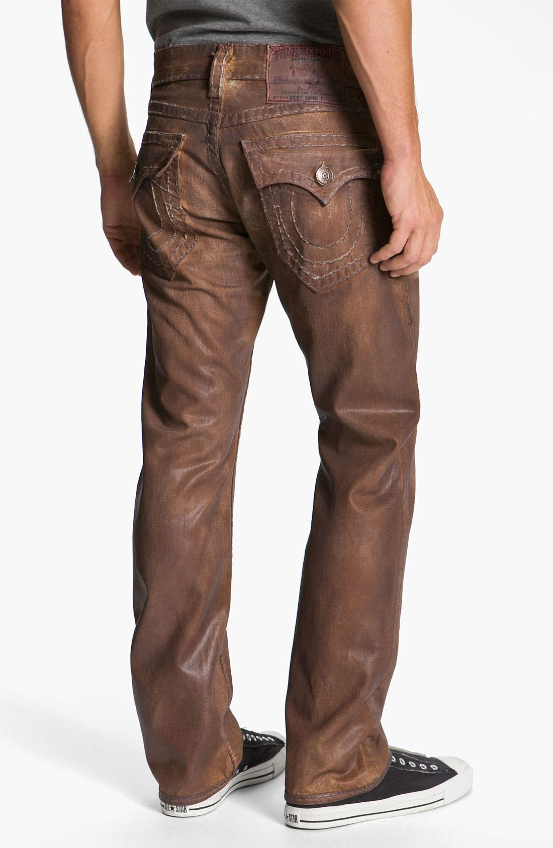 Alternate Image 1 Selected - True Religion Brand Jeans 'Ricky - Natural Super T' Straight Leg Jeans (Brown) (Save Now through 12/9)
