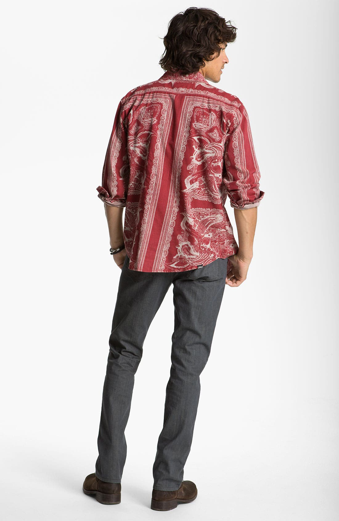 Alternate Image 4  - Insight 'Del Monte' Paisley Print Shirt
