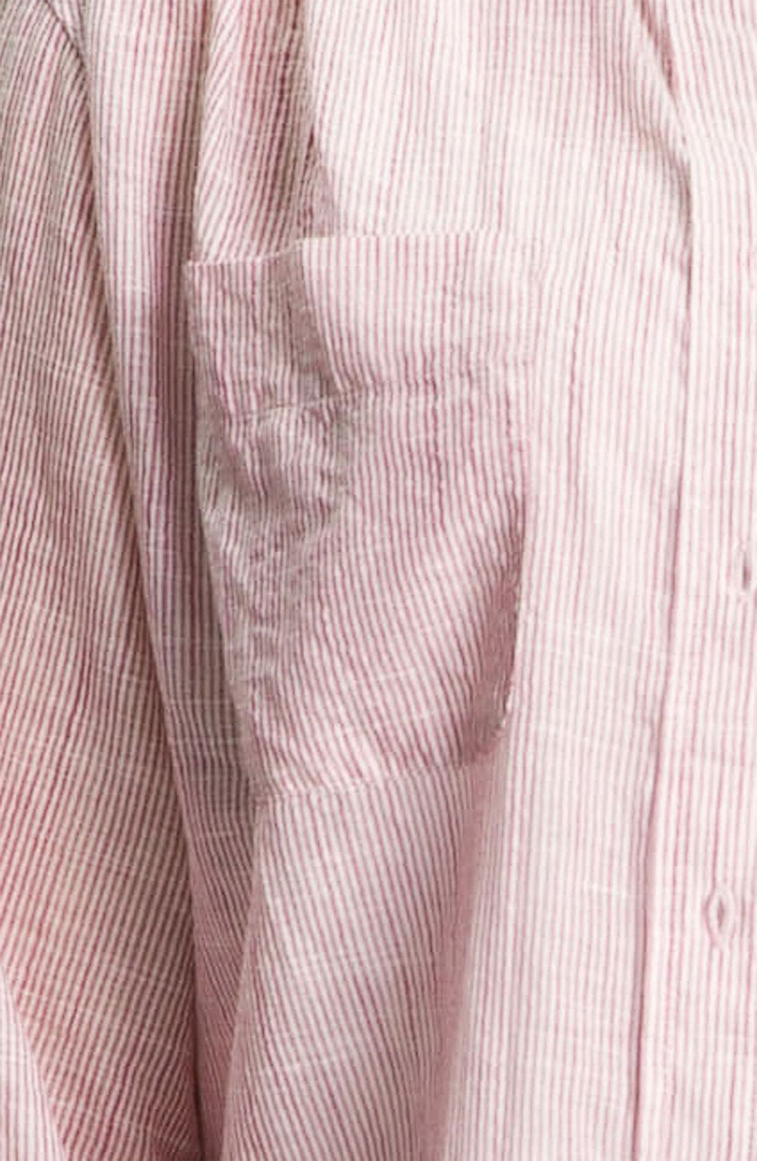 Alternate Image 3  - Sandra Ingrish Stripe Roll Sleeve Shirt (Plus)