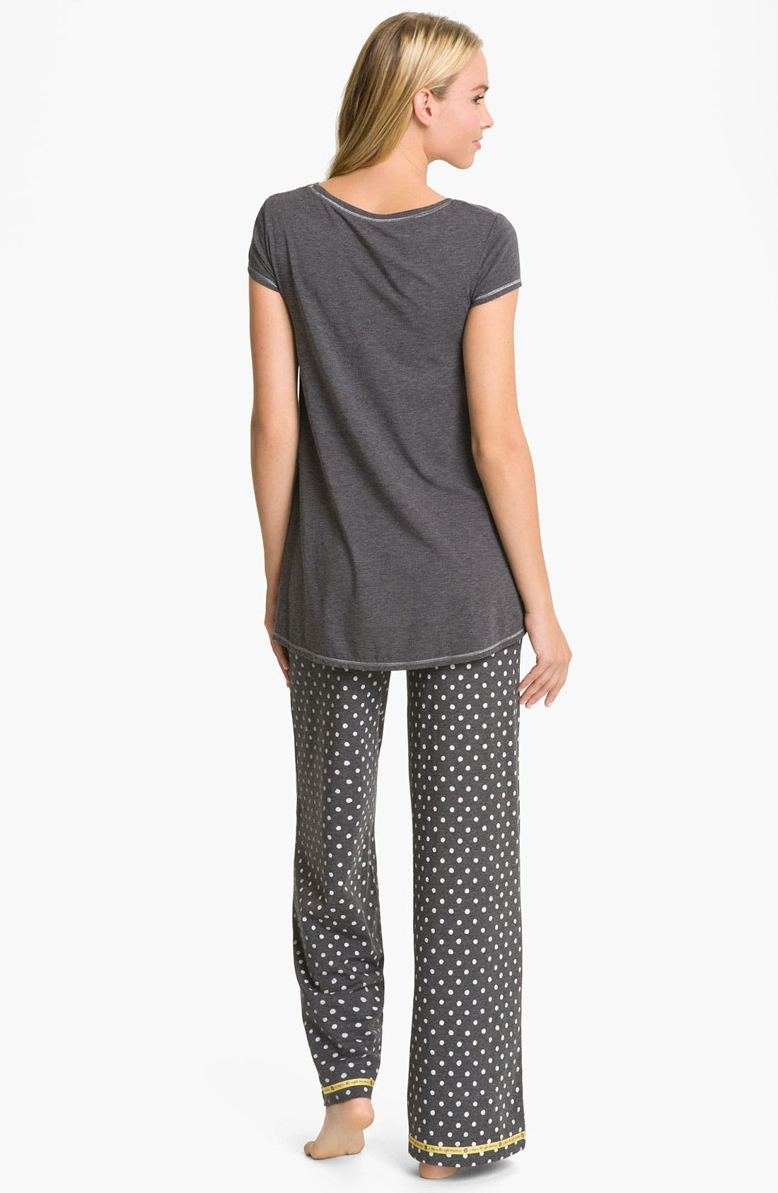 Alternate Image 5  - Hue 'Watercolor Dot' Pajama Pants