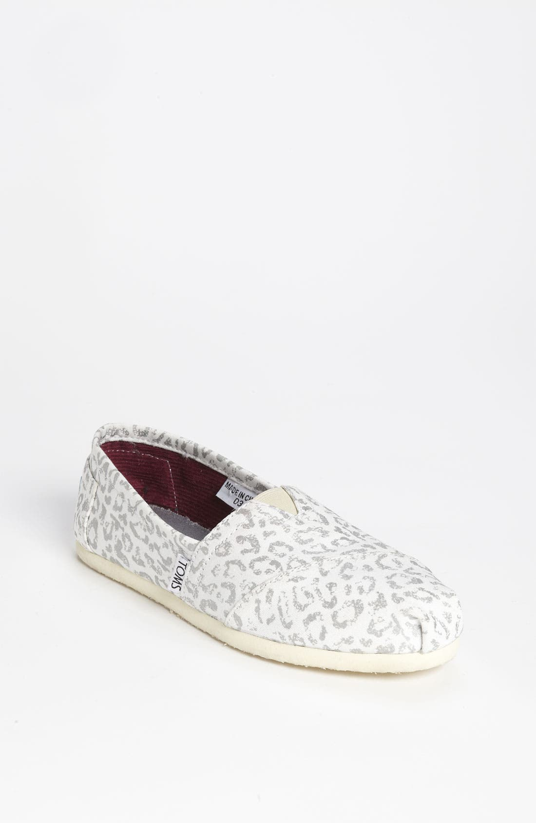 Alternate Image 1 Selected - TOMS 'Classic - Snow Leopard' Slip-On (Women)