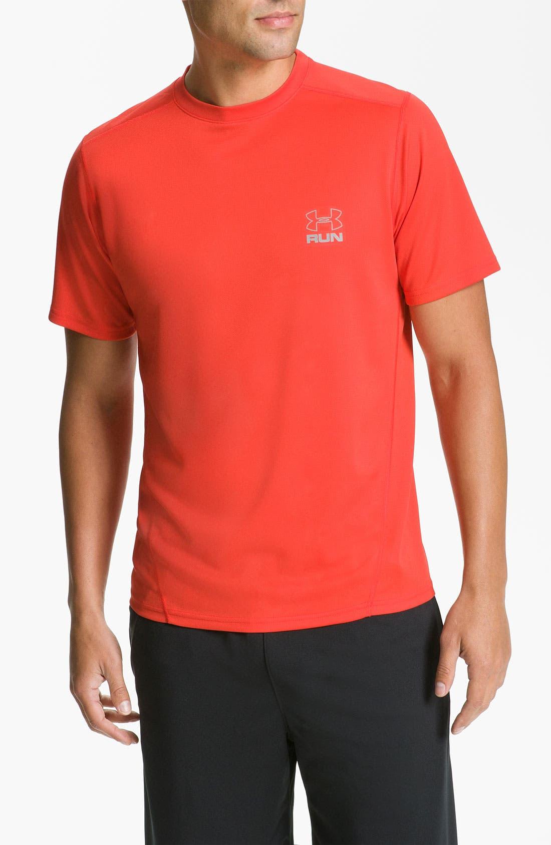 Main Image - Under Armour 'Run' HeatGear® Short Sleeve T-Shirt