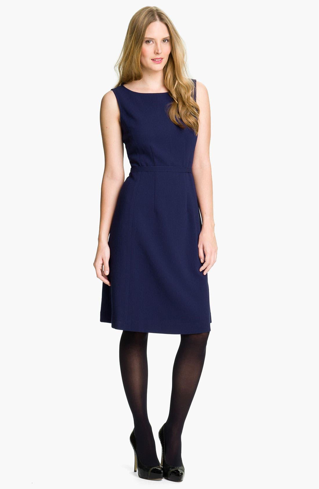 Main Image - Lafayette 148 New York Double Cloth Bateau Neck Dress