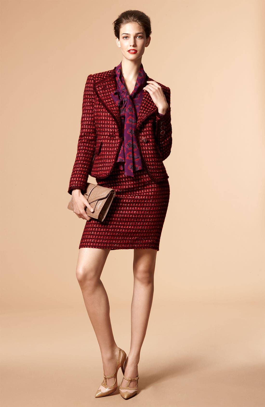 Alternate Image 1 Selected - Tory Burch Jacket, Blouse & Skirt