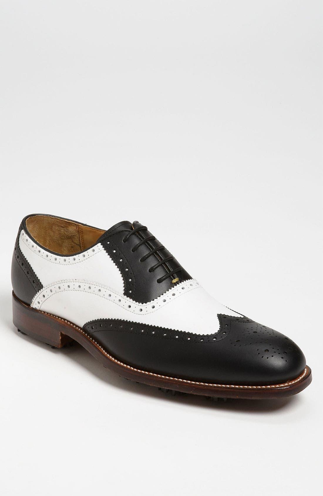 Alternate Image 1 Selected - Oliver Sweeney 'Royale' Wingtip Golf Shoe (Men)