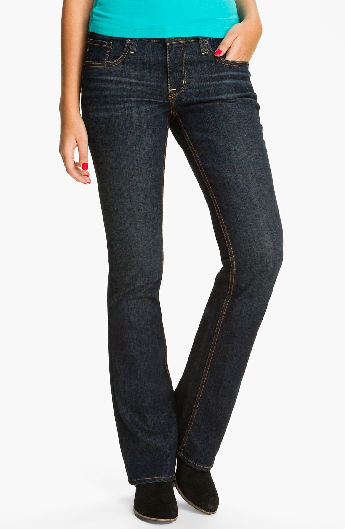 Main Image - Big Star 'Hazel' Slim Bootcut Jeans (Three Year Dust) (Juniors)