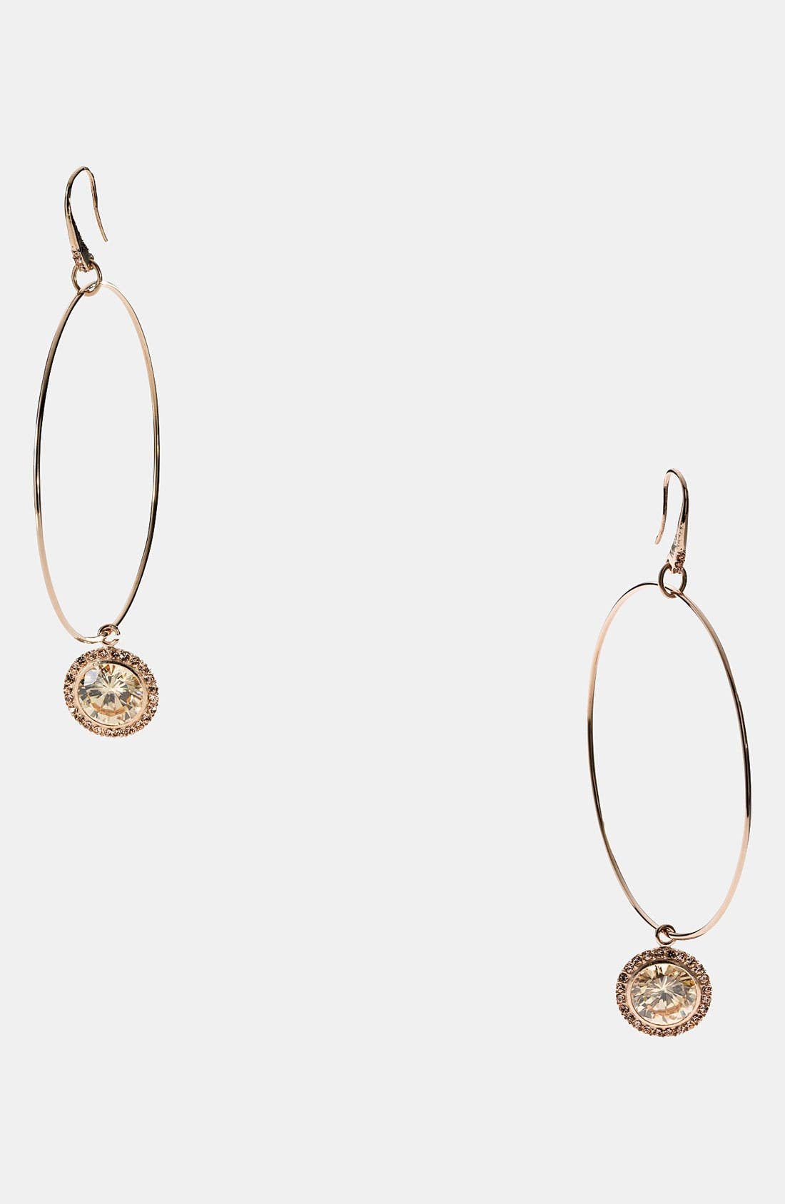Alternate Image 1 Selected - Michael Kors 'Brilliance' Hoop Drop Earrings