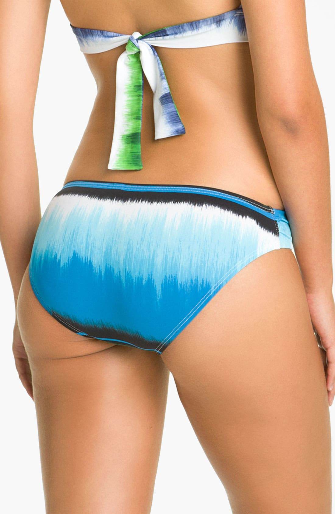 Alternate Image 2  - Tommy Bahama 'Hazy Ikat Stripe' Shirred Hipster Bikini Bottoms