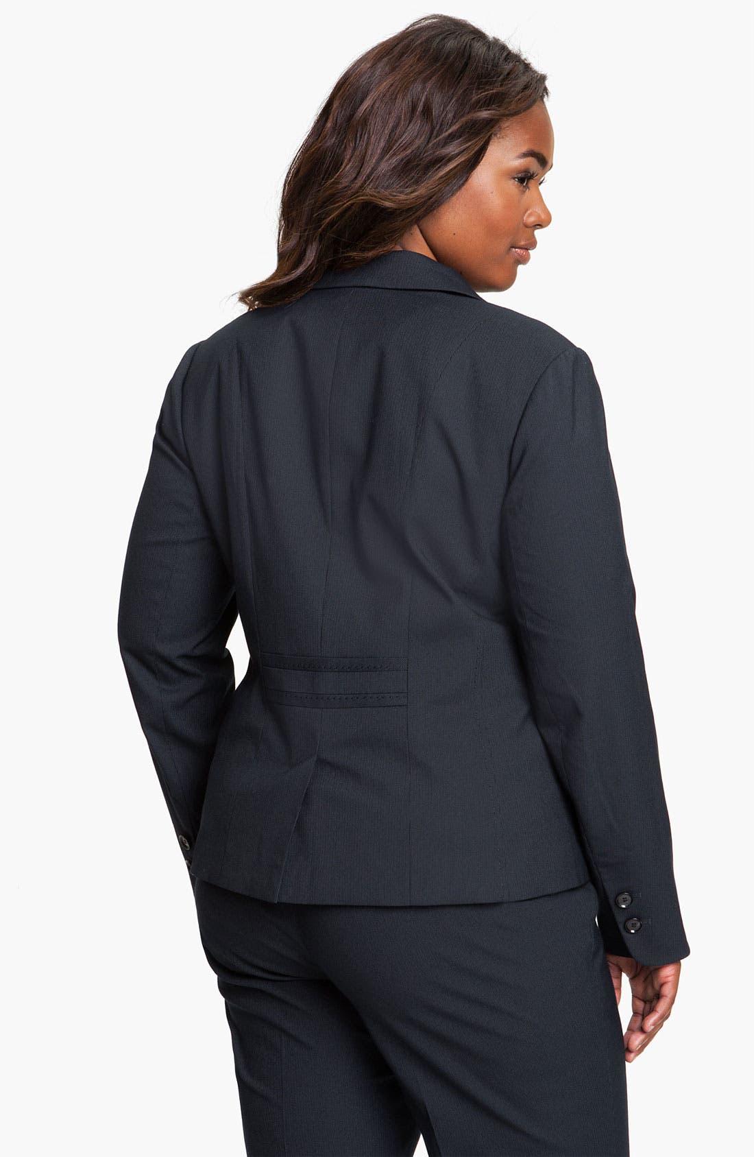 Alternate Image 2  - Sejour Pinstripe Suit Jacket (Plus)