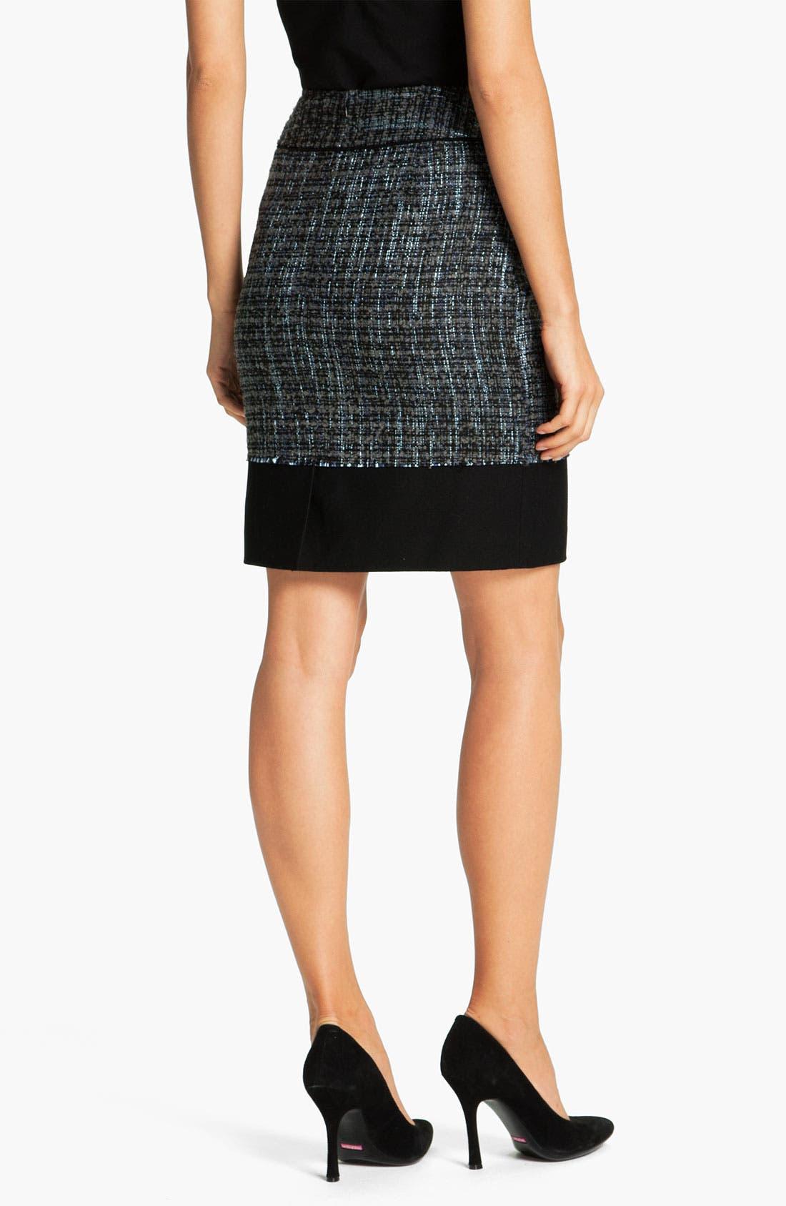 Alternate Image 2  - Halogen® Patch Pocket Tweed Pencil Skirt