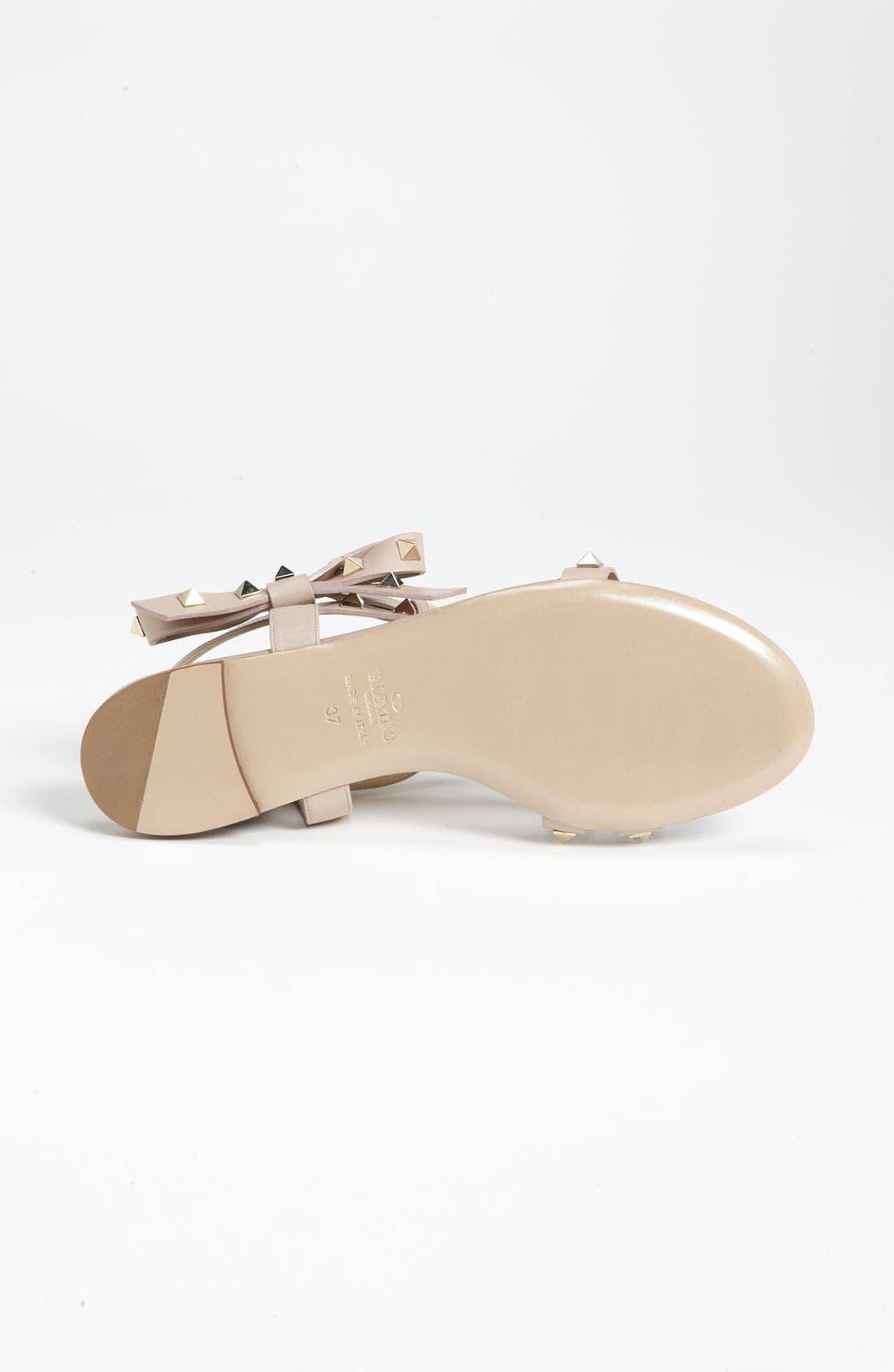 Alternate Image 3  - Valentino 'Rockstud' Bow Flat Sandal