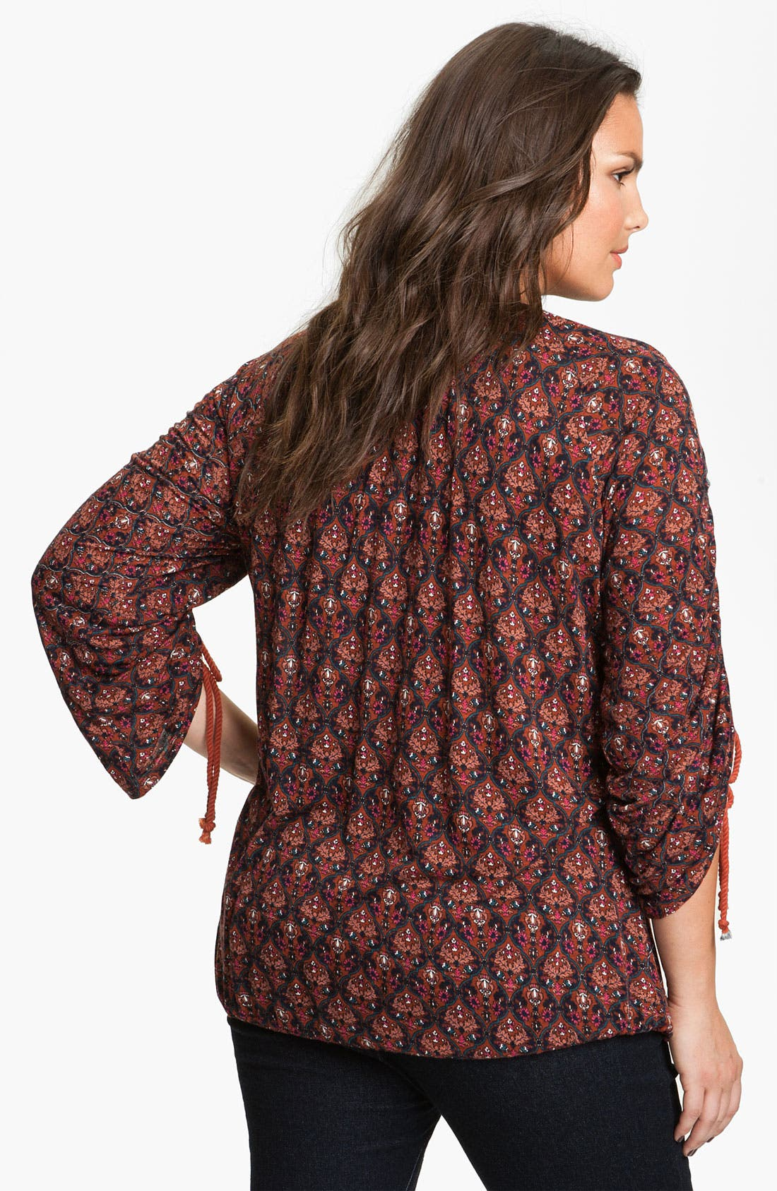 Alternate Image 2  - Lucky Brand 'Wallpaper Arches Brianne' Top (Plus)