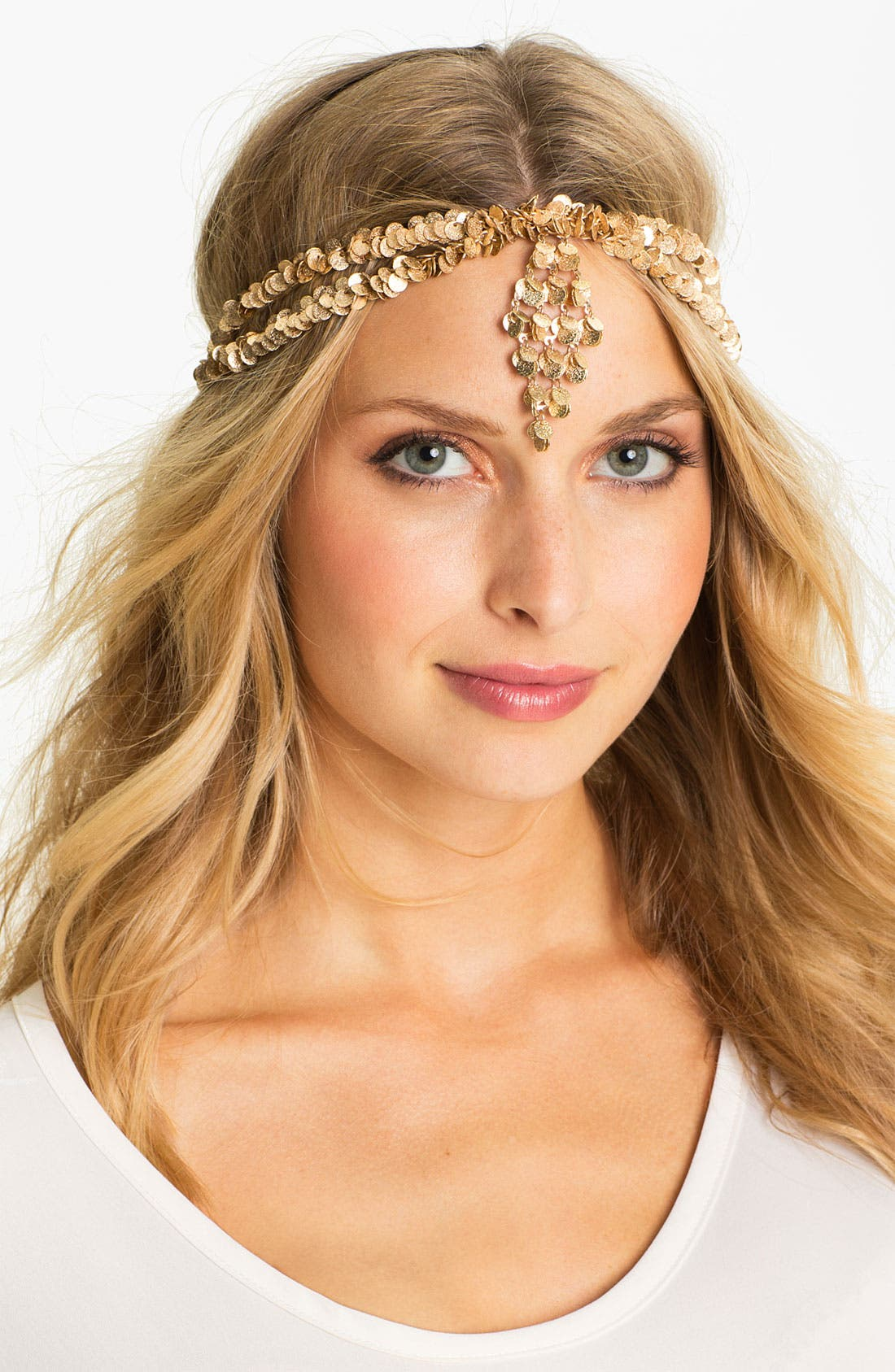Main Image - Tasha 'Specialty' Golden Disc Head Wrap