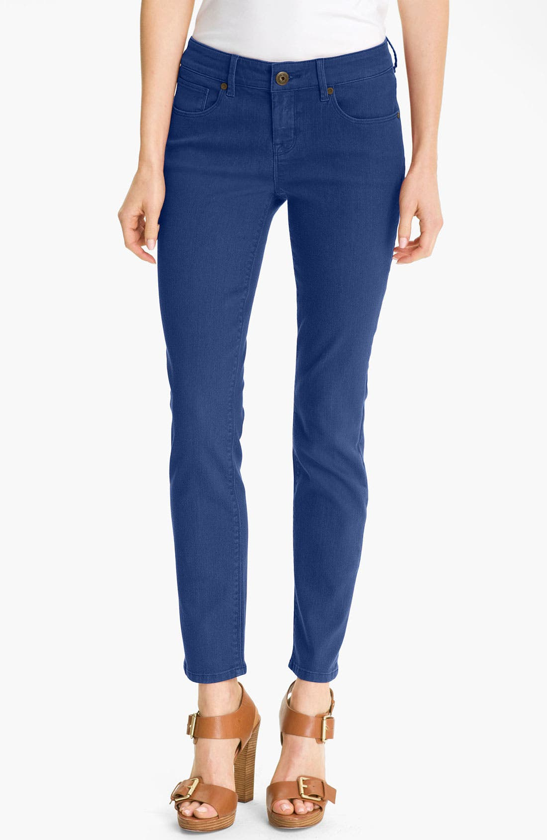 Main Image - Isaac Mizrahi Jeans 'Samantha' Colored Denim Skinny Jeans