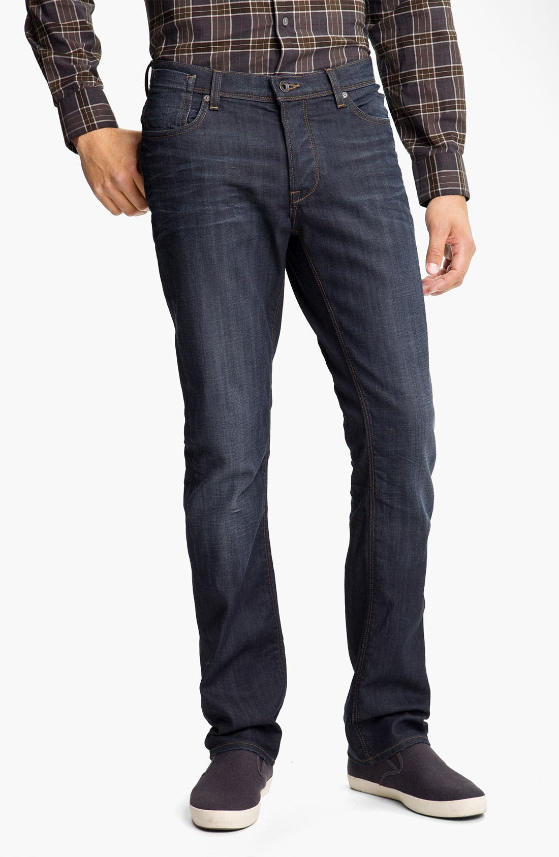 Main Image - John Varvatos 'Authentic' Straight Leg Jeans (River Blue)