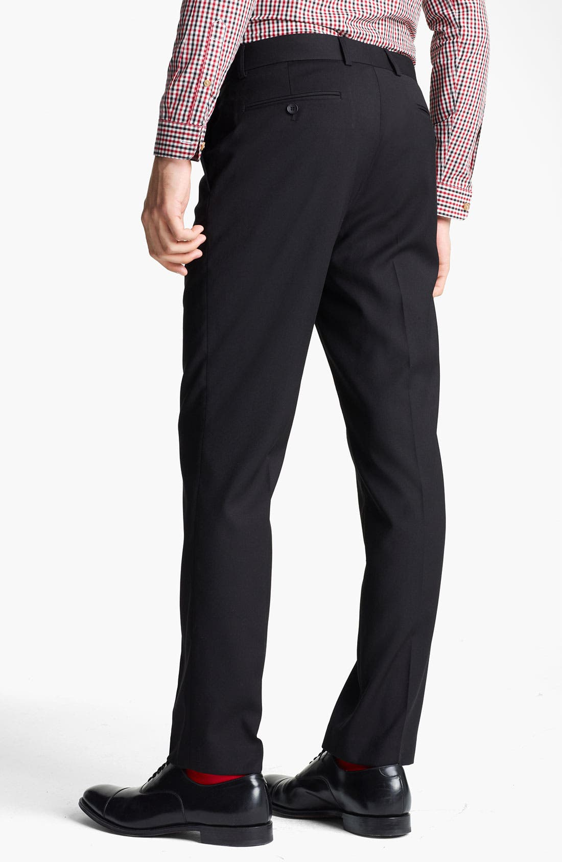 Alternate Image 2  - Topman Slim Fit Flat Front Trousers