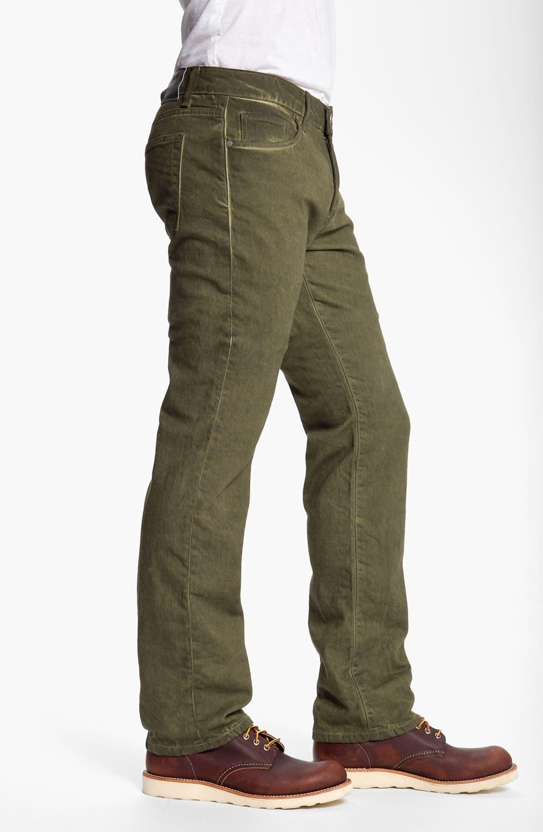 Alternate Image 3  - PAIGE 'Normandie' Straight Leg Jeans (Bayou)