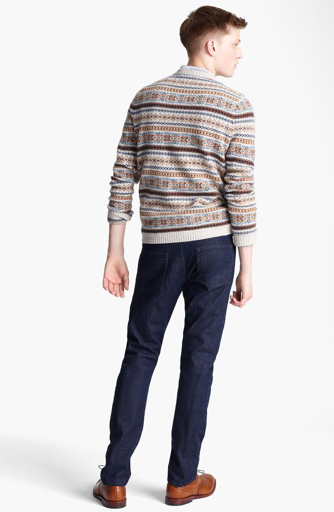Alternate Image 5  - Topman Fair Isle Crewneck Sweater