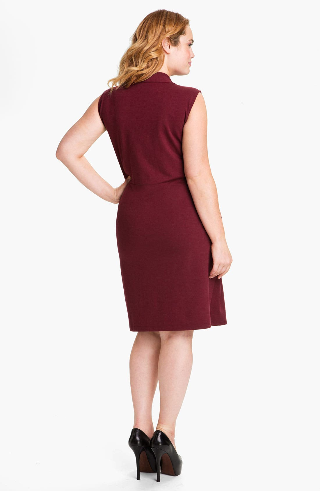 Alternate Image 2  - Kenneth Cole New York 'Lindsey' Sleeveless Ponte Knit Sheath Dress (Plus)
