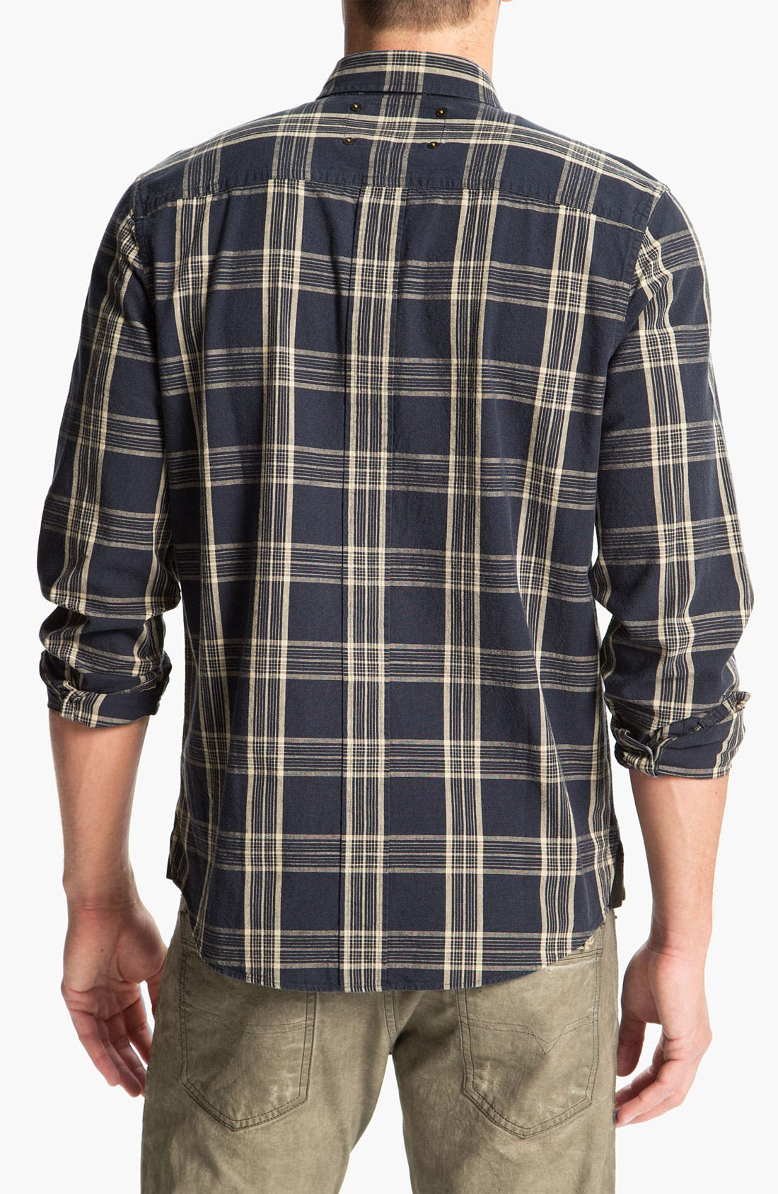 Alternate Image 2  - R44 Rogan Standard Issue Plaid Woven Shirt