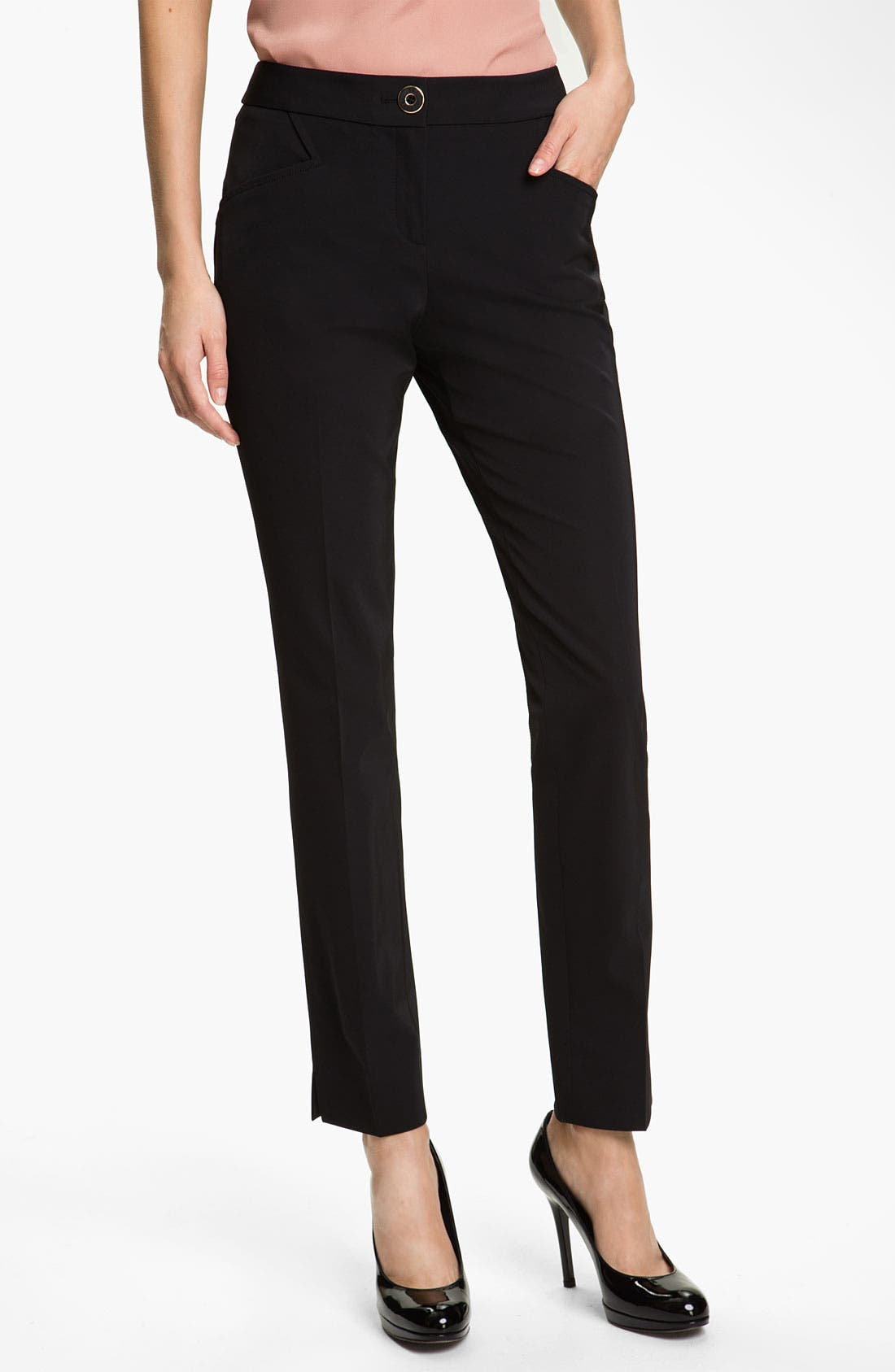 Alternate Image 1 Selected - Ted Baker London Techno Stretch Trousers