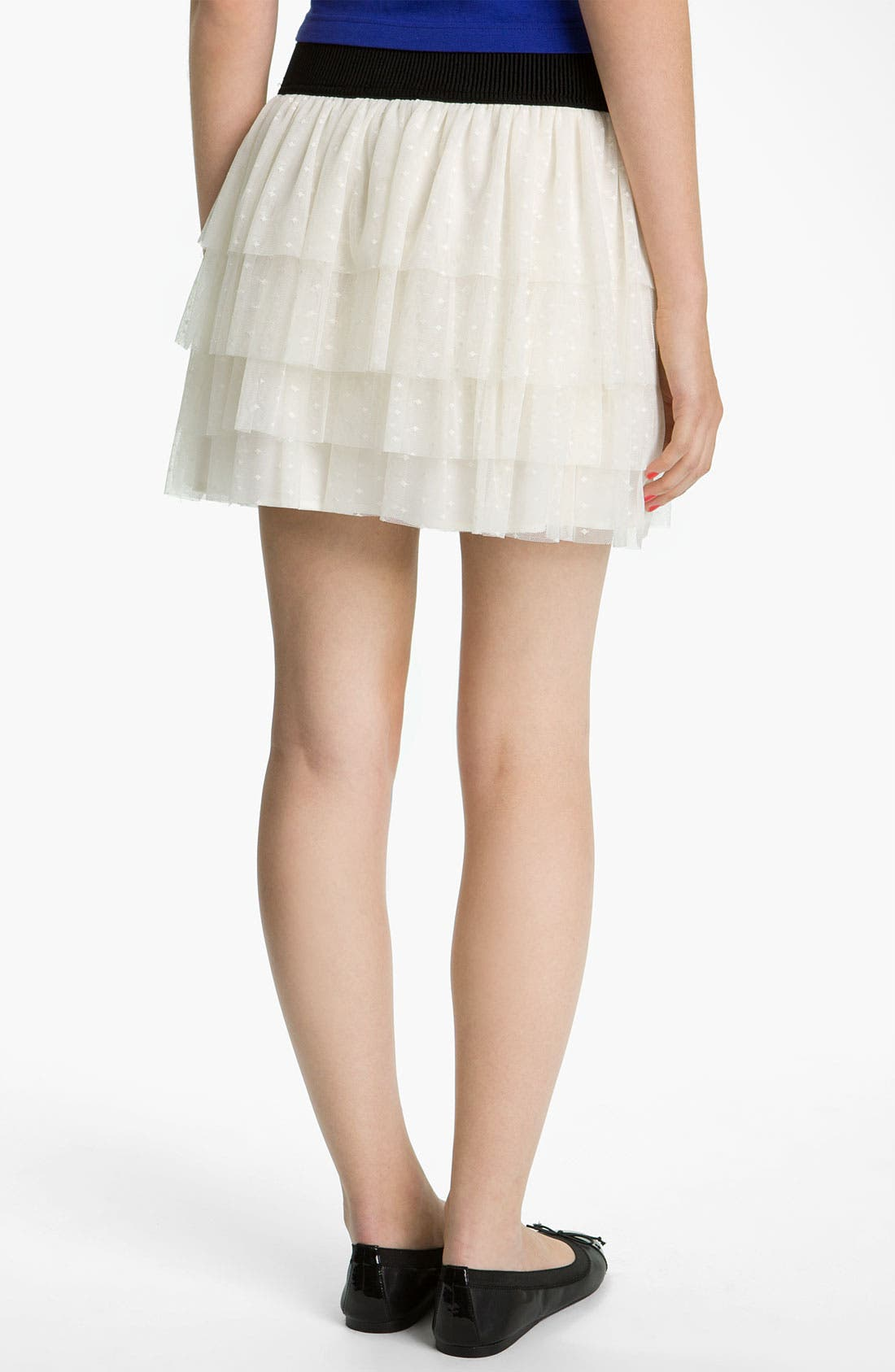 Alternate Image 2  - Necessary Objects Tiered Swiss Dot Lace Skirt (Juniors)