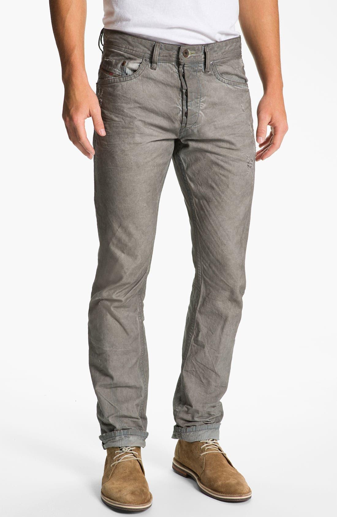 Alternate Image 2  - DIESEL® 'Braddom' Slim Tapered Leg Jeans (Chocolate Grey)
