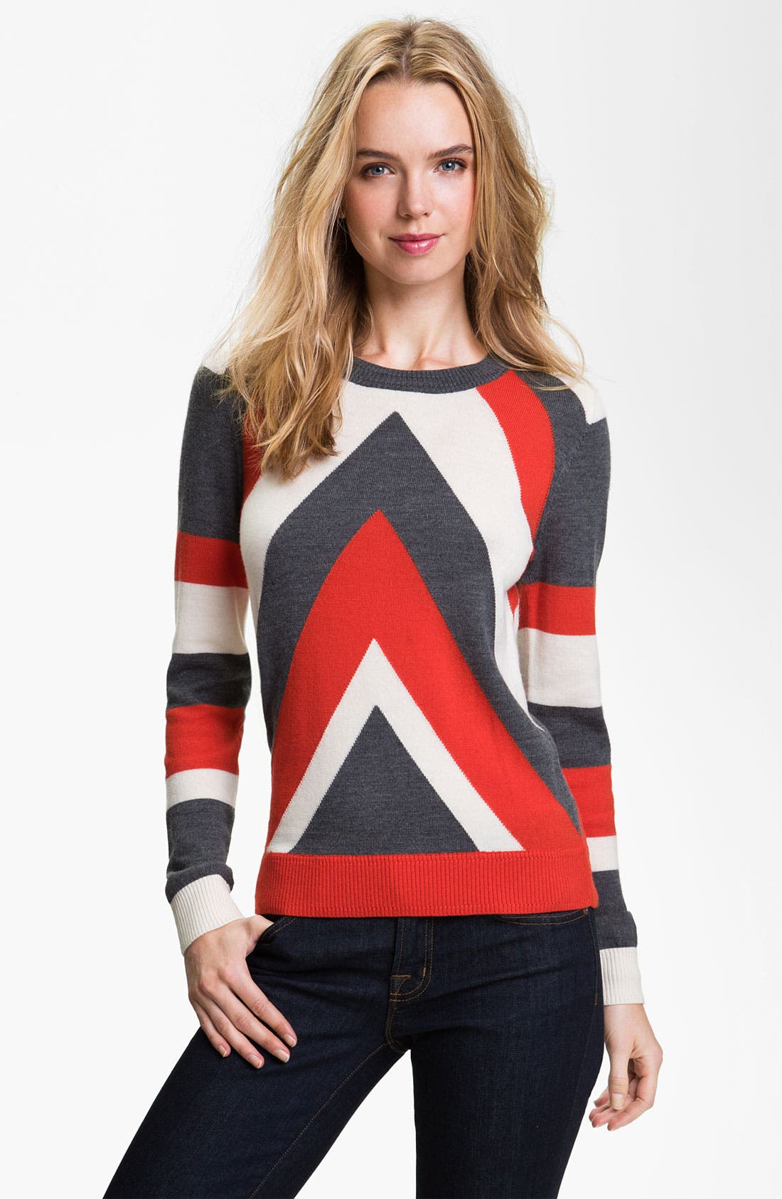 Alternate Image 1 Selected - Milly 'Intarsia' Stripe Sweater