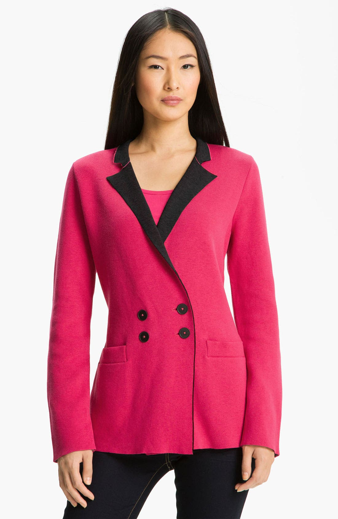 Alternate Image 1 Selected - Nic + Zoe 'Out the Door' Knit Jacket (Petite)