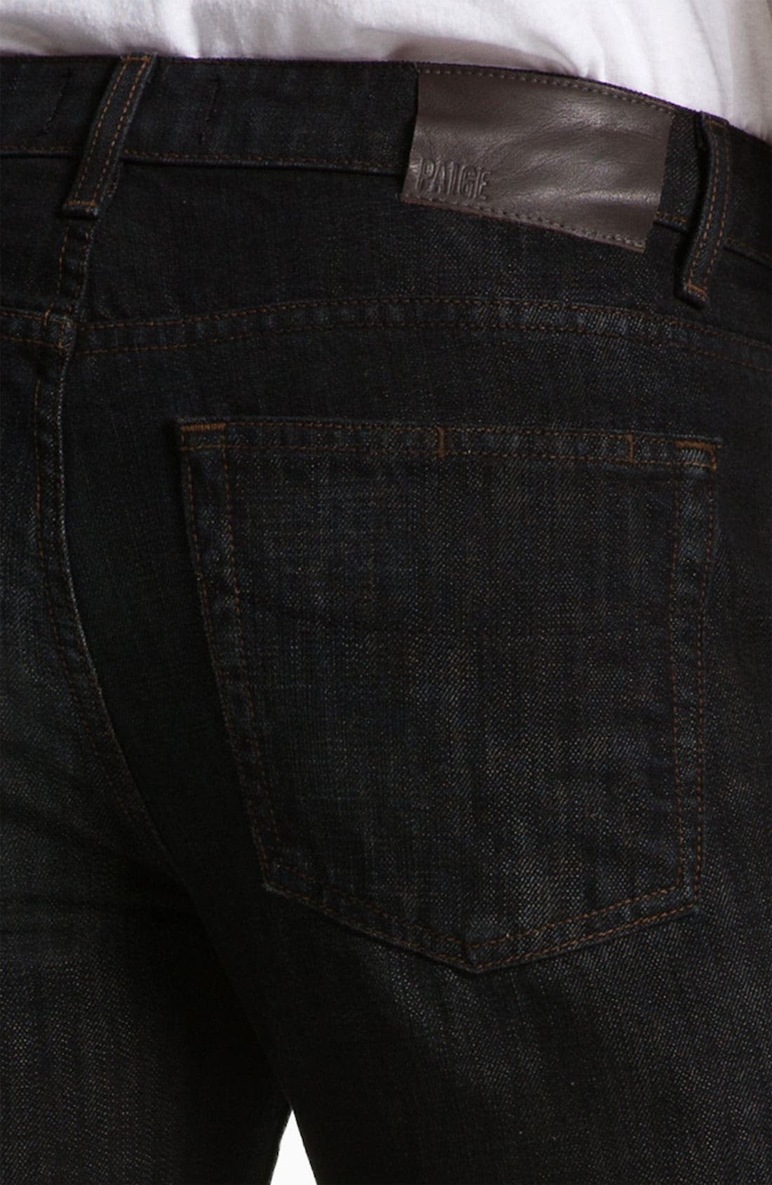 Alternate Image 4  - PAIGE 'Normandie' Straight Leg Jeans (Alpha)